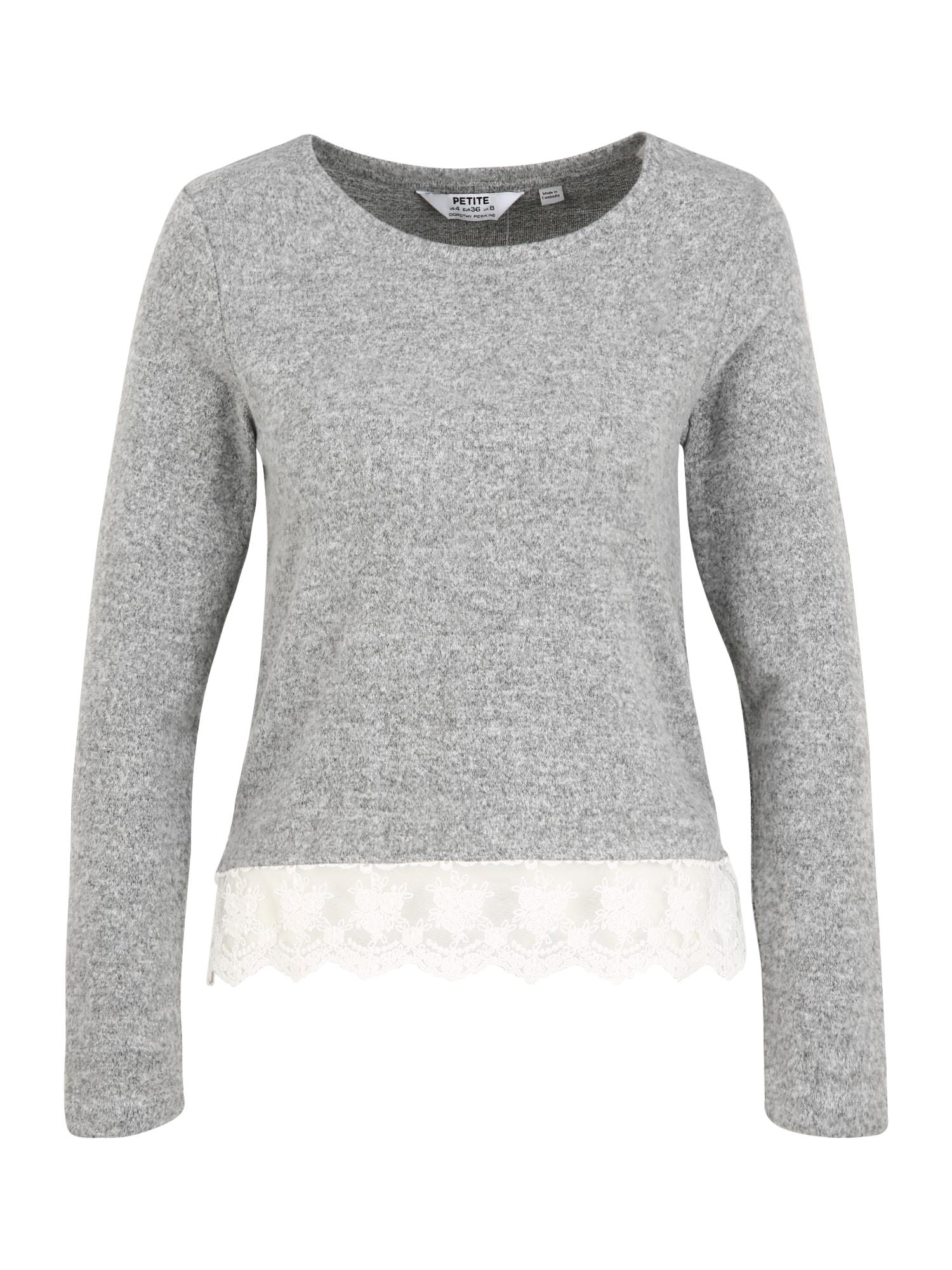 Dorothy Perkins (Petite) Marškinėliai margai pilka / balta