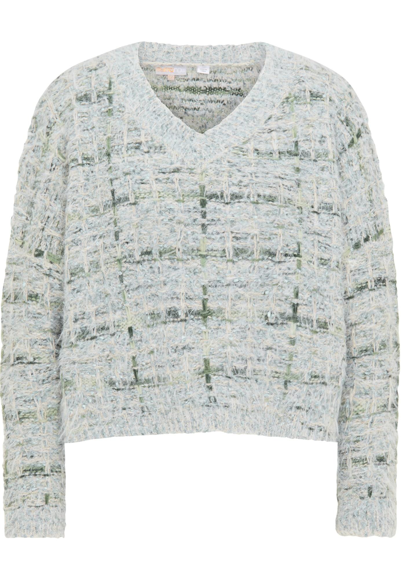 myMo NOW Megztinis žalia / pilka