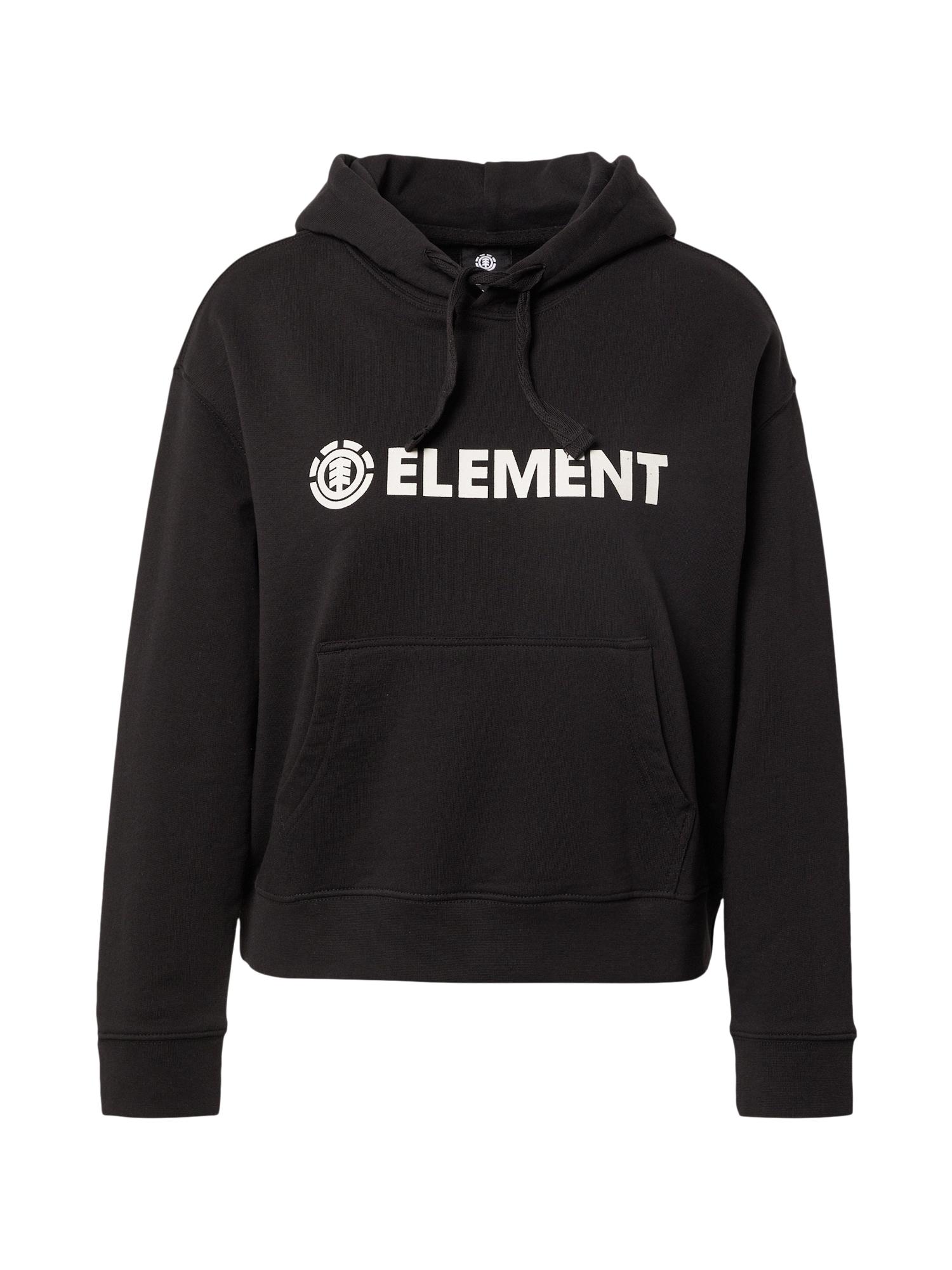 ELEMENT Sportinio tipo megztinis juoda / balta