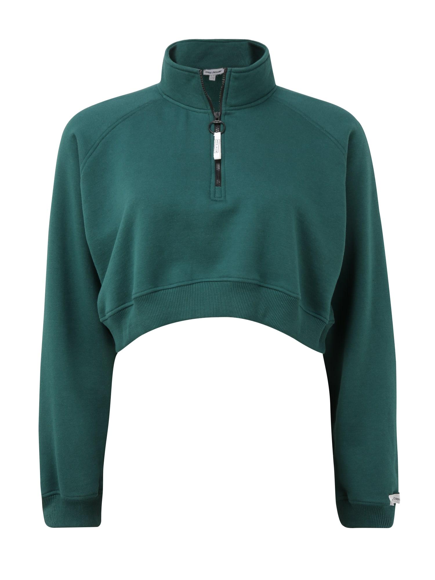 Public Desire Curve Megztinis be užsegimo smaragdinė spalva