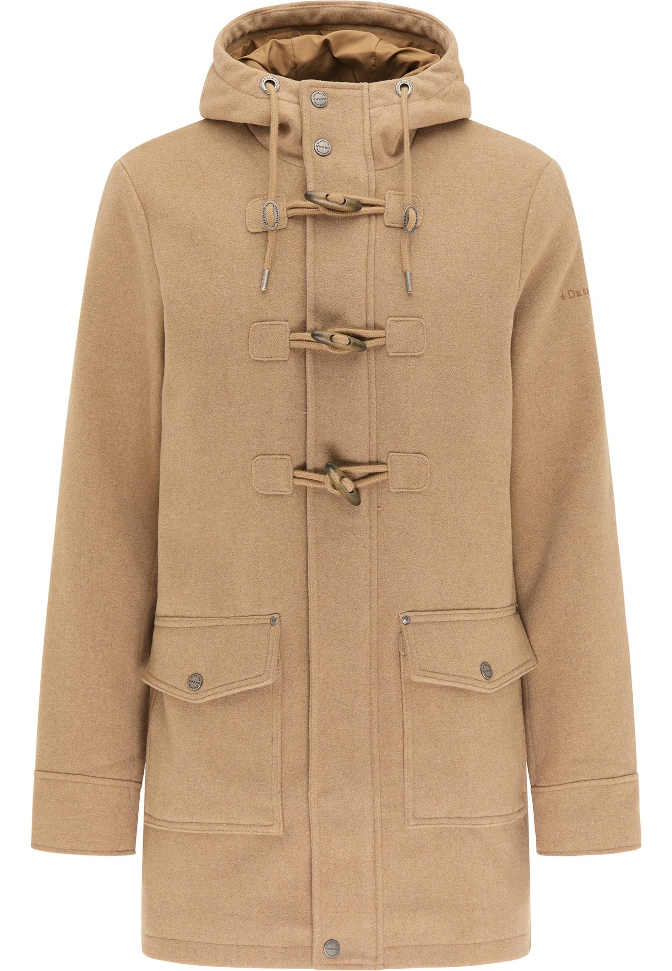 DreiMaster Klassik Demisezoninis paltas šviesiai ruda