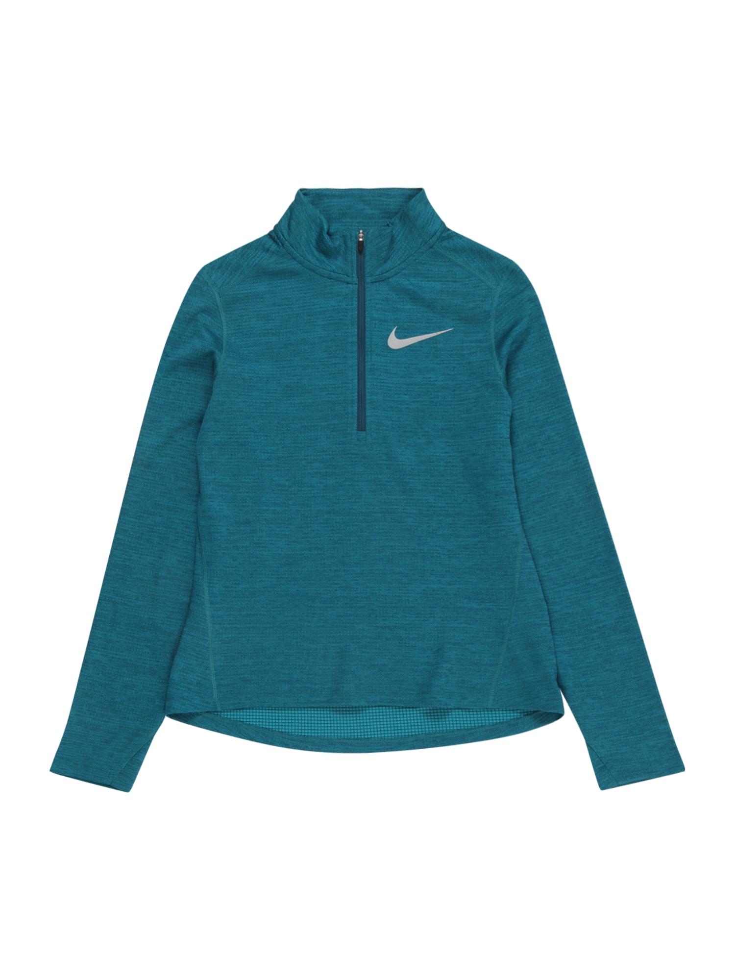 NIKE Sportinio tipo megztinis sidabrinė / benzino spalva