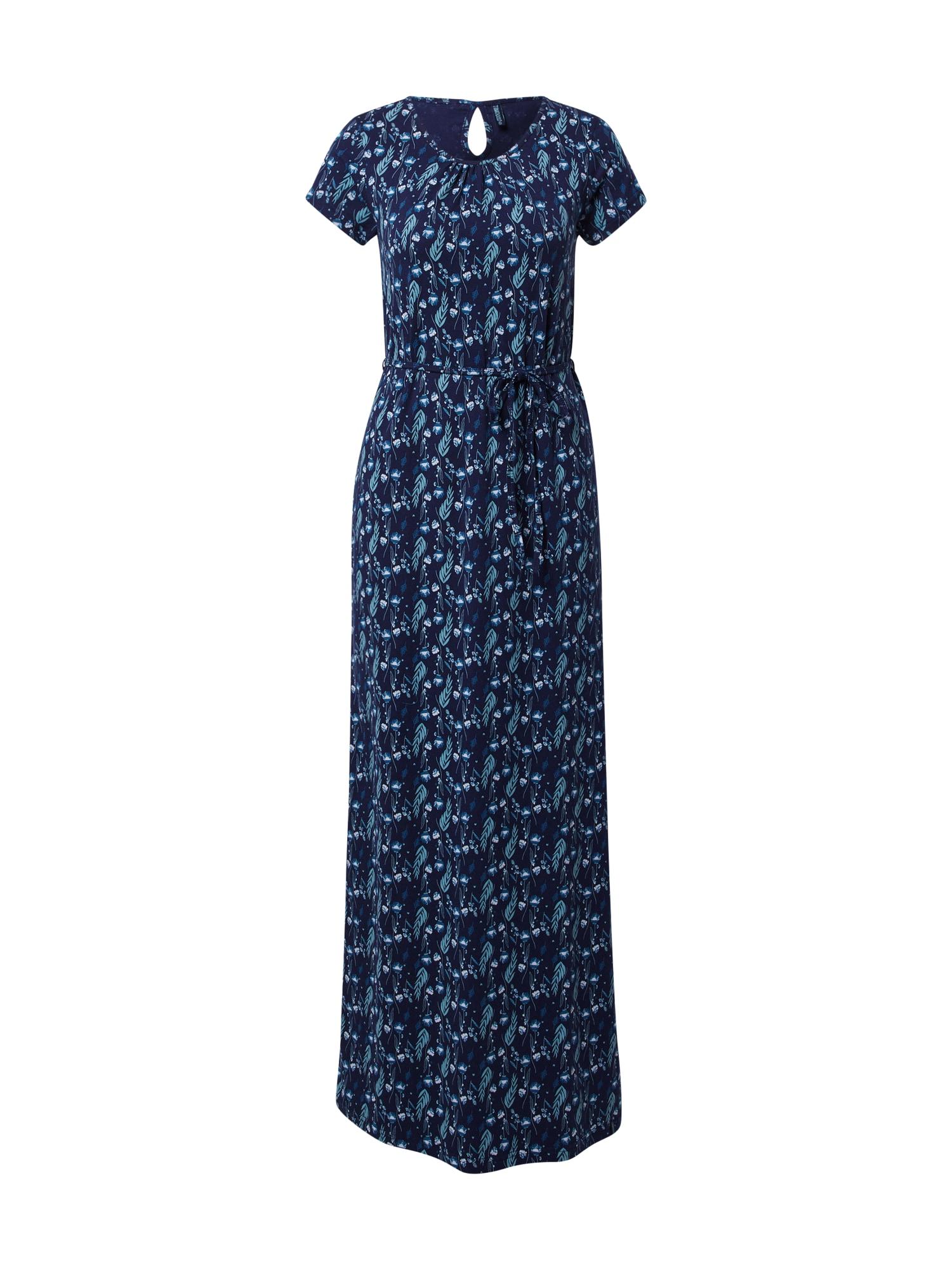 Tranquillo Vasarinė suknelė tamsiai mėlyna / mėlyna dūmų spalva / balta