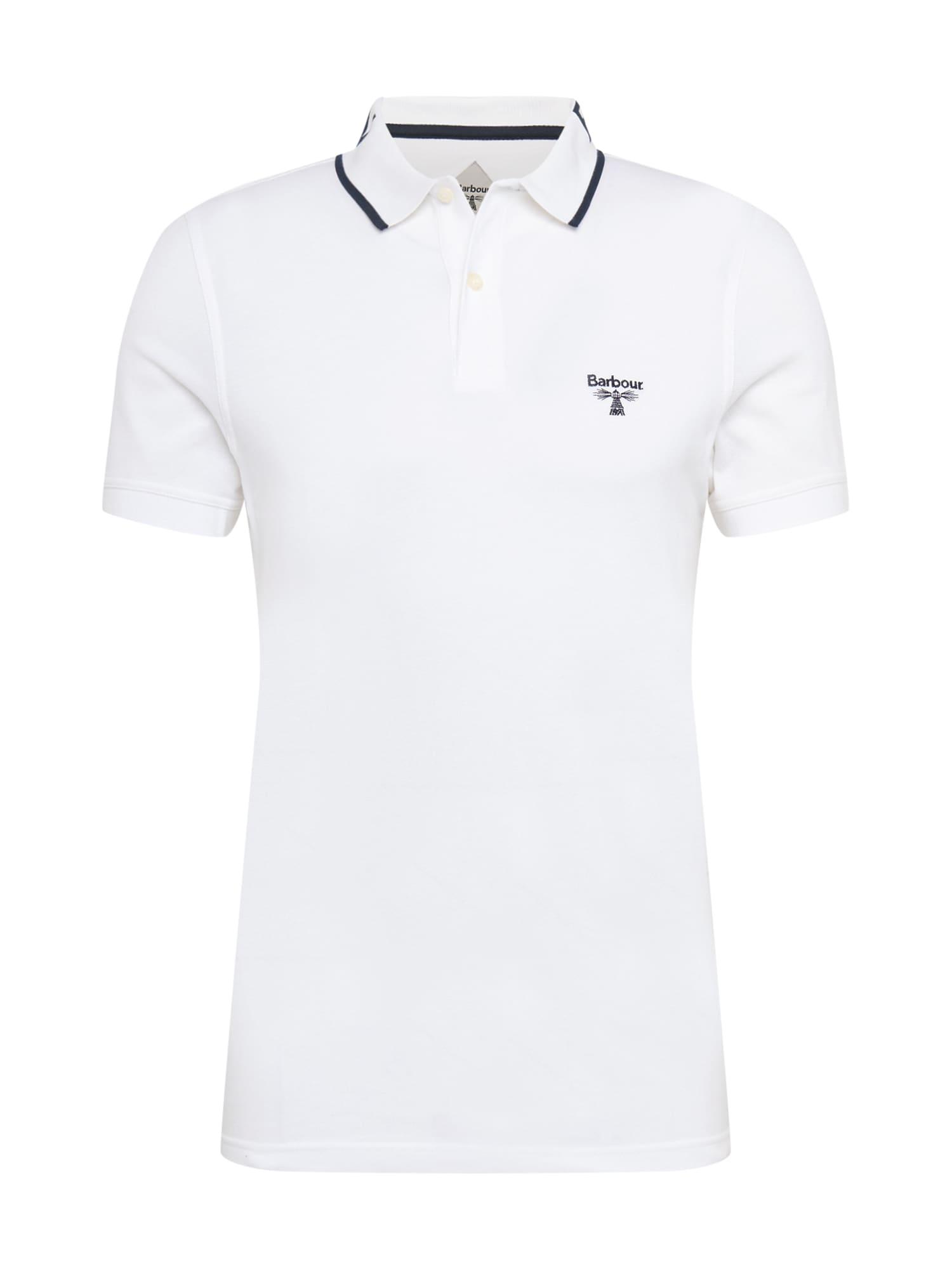 Barbour Beacon Marškinėliai balta / nakties mėlyna