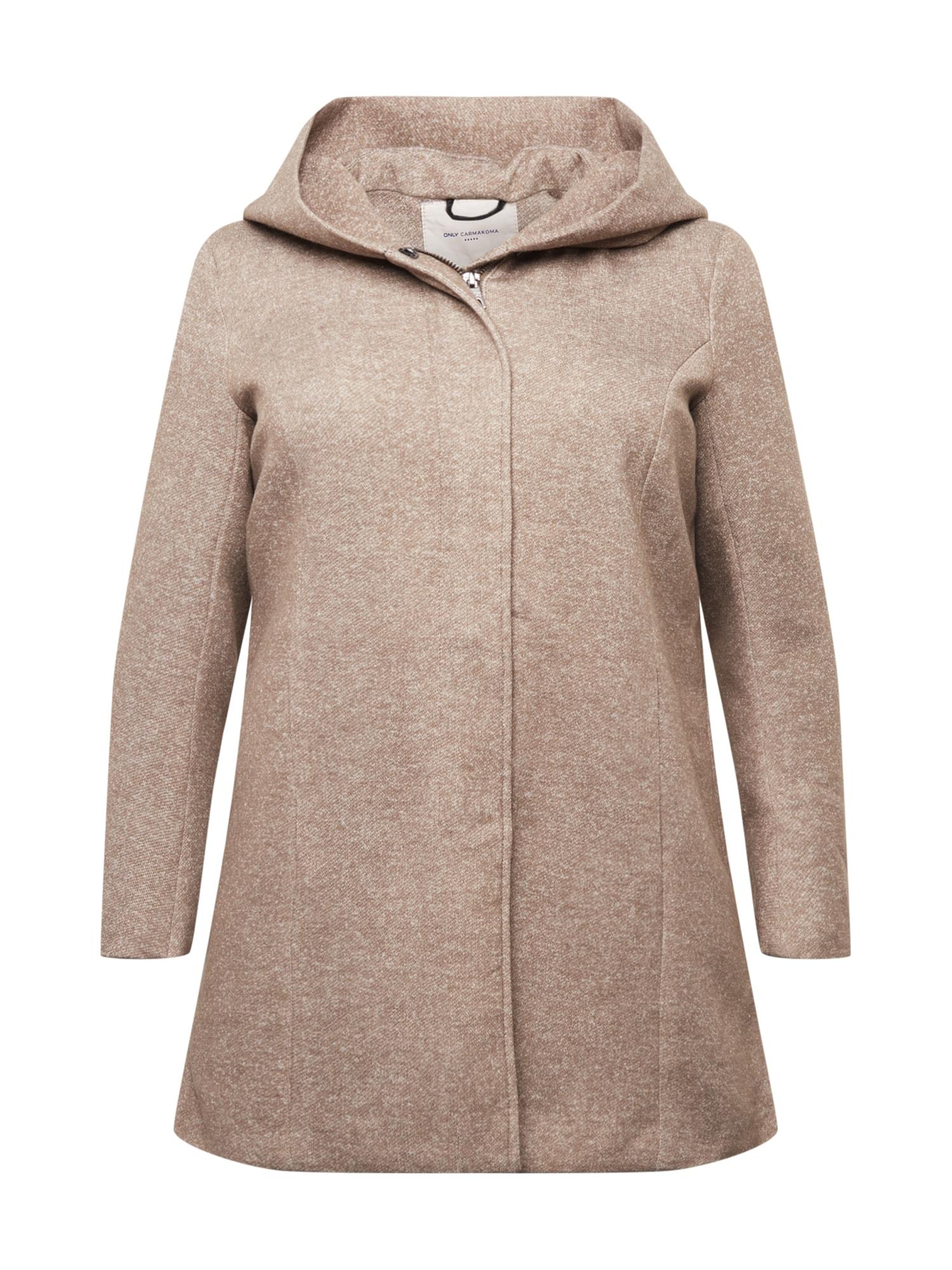 ONLY Carmakoma Demisezoninis paltas marga smėlio spalva