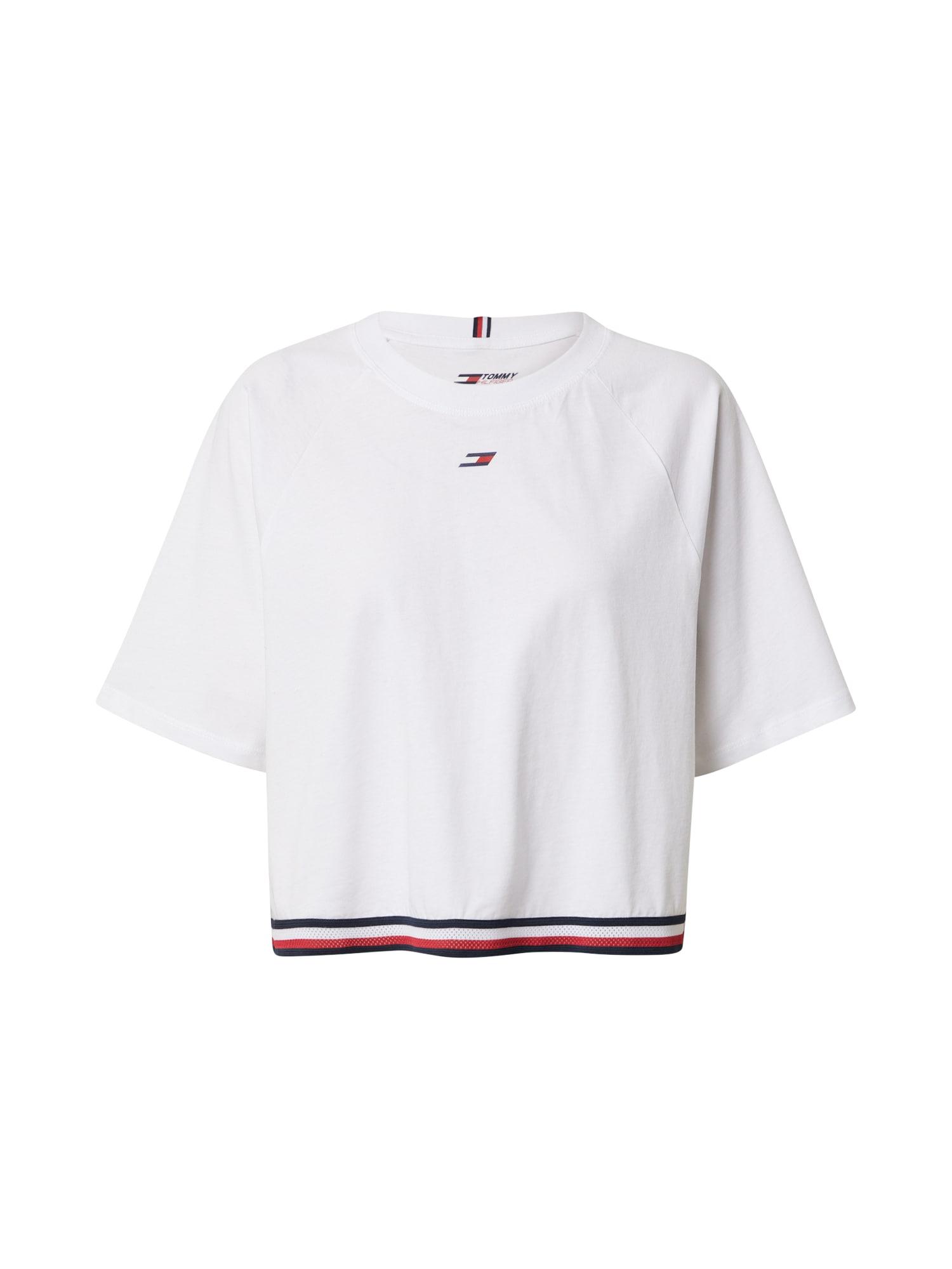Tommy Sport Funkční tričko  bílá / červená / noční modrá
