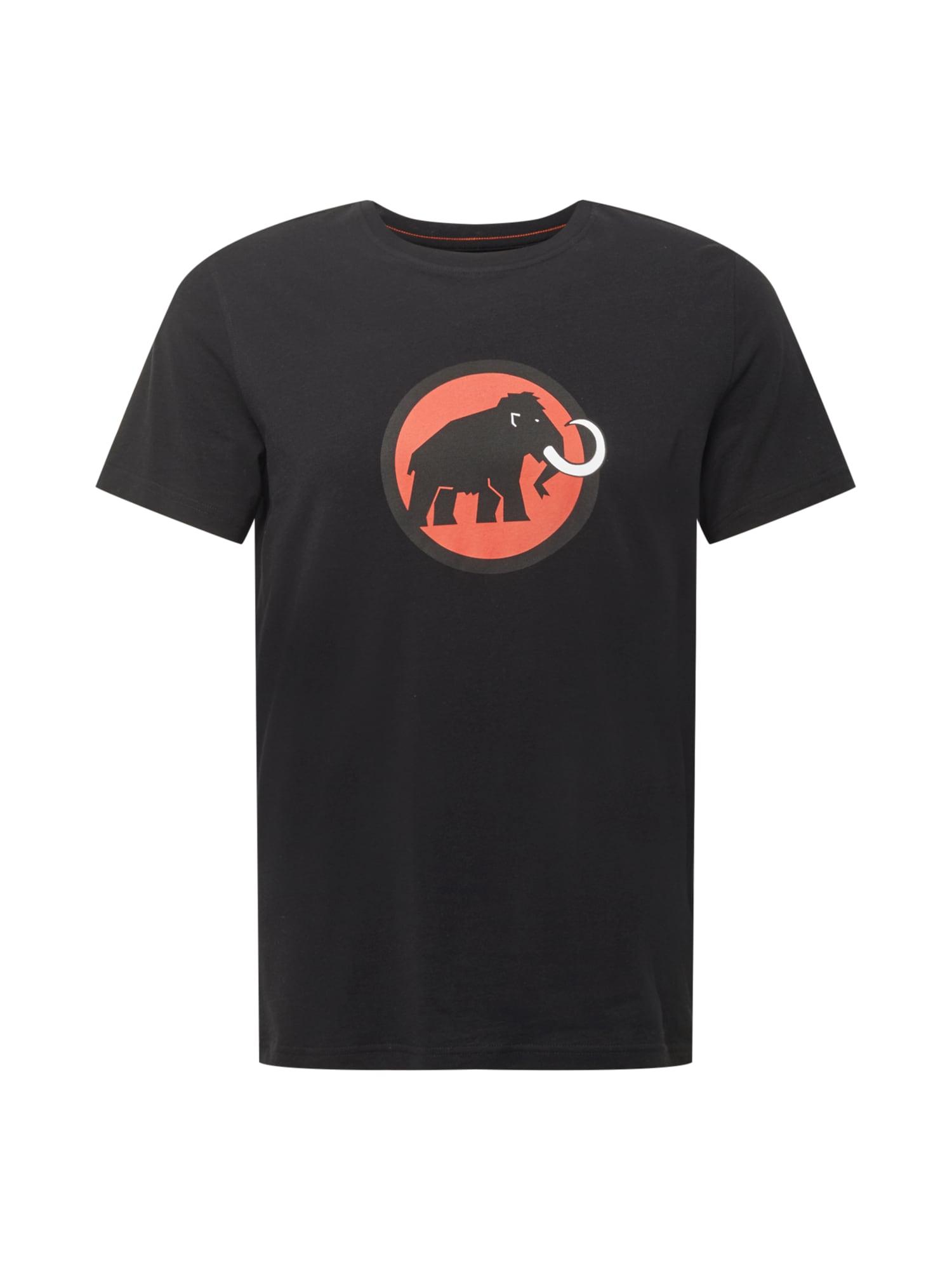 MAMMUT Sportiniai marškinėliai juoda / tamsiai oranžinė / balta