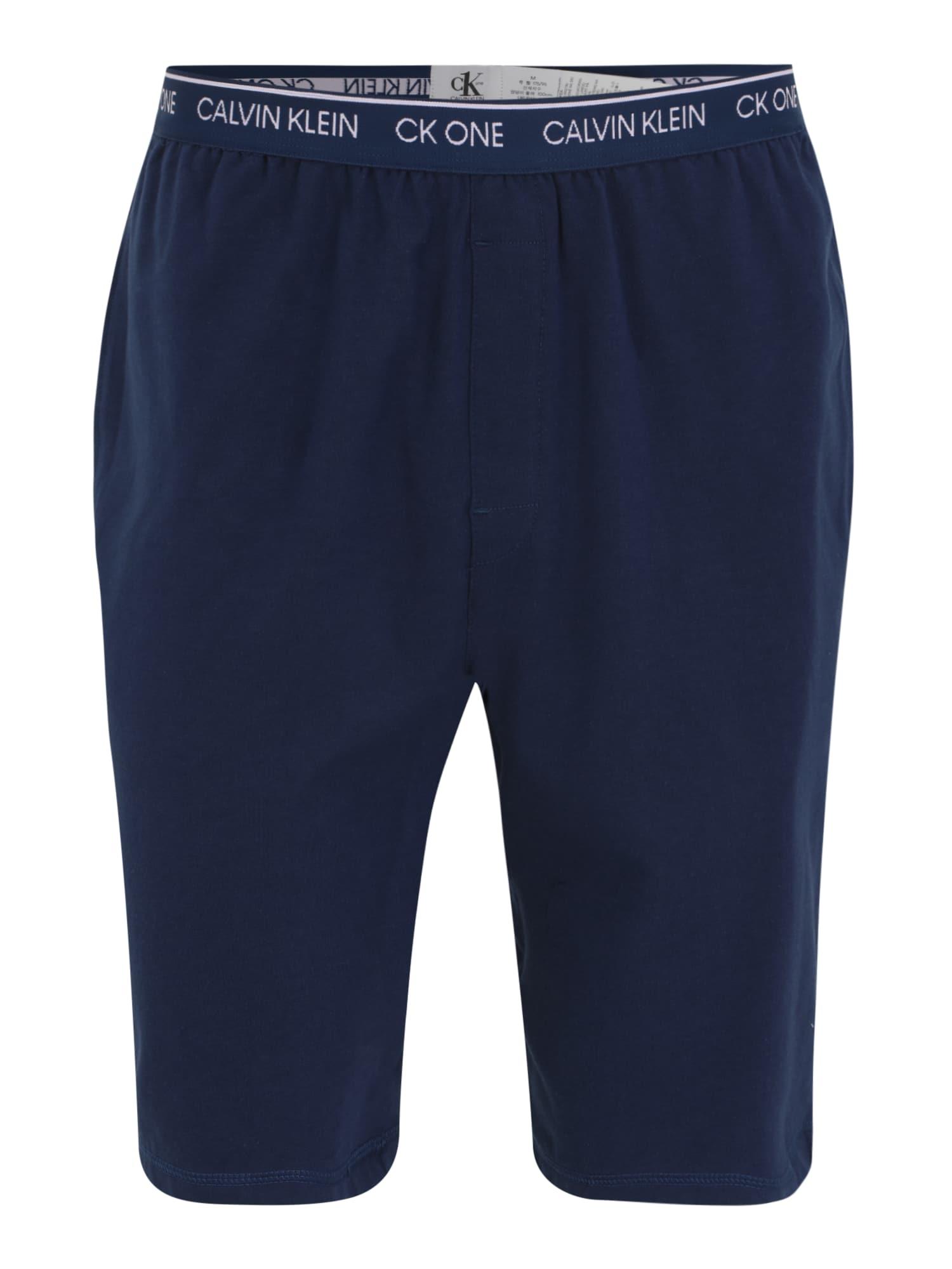 Calvin Klein Underwear Pyžamové kalhoty  námořnická modř / bílá