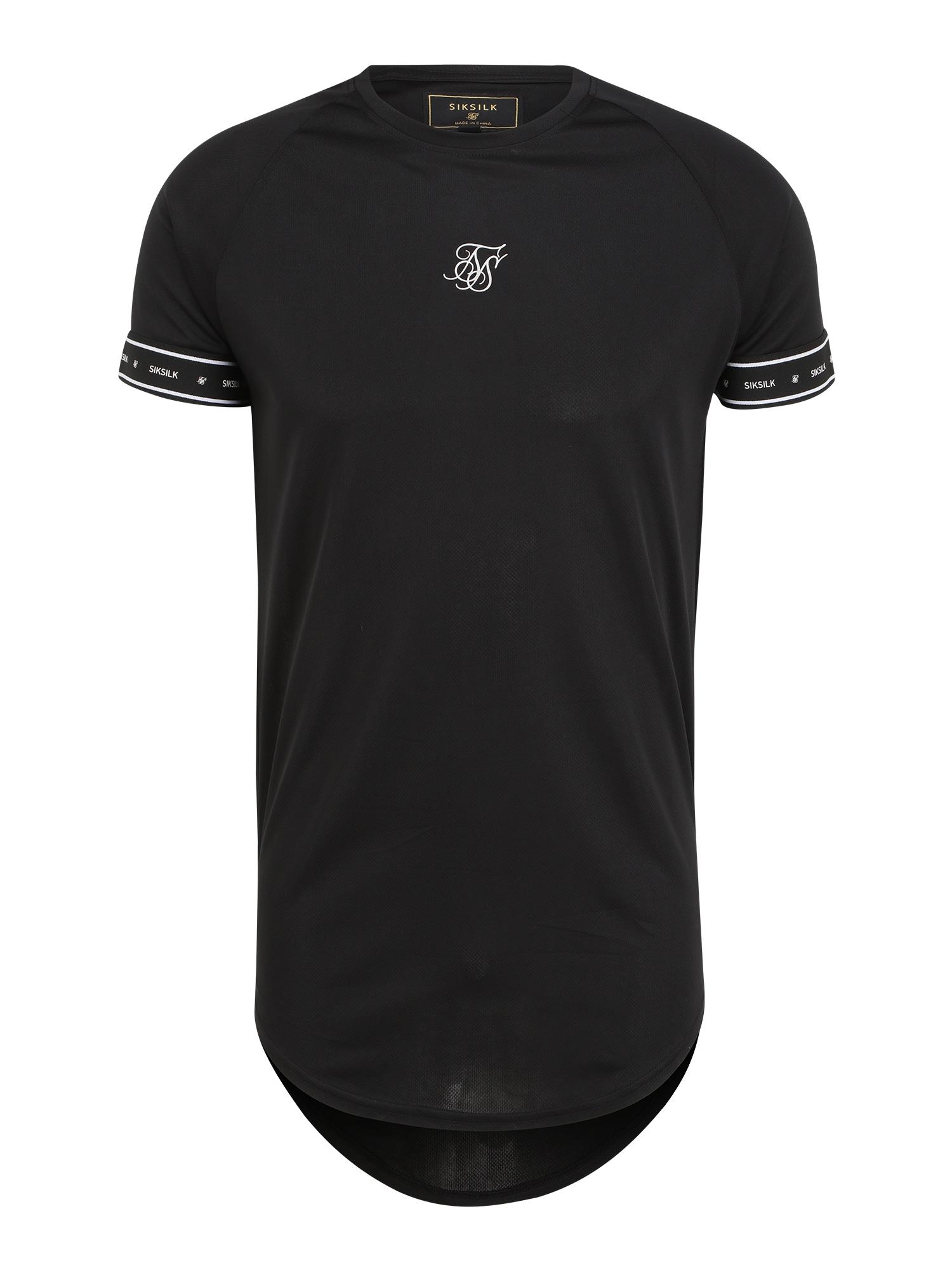 SikSilk Marškinėliai juoda / balta