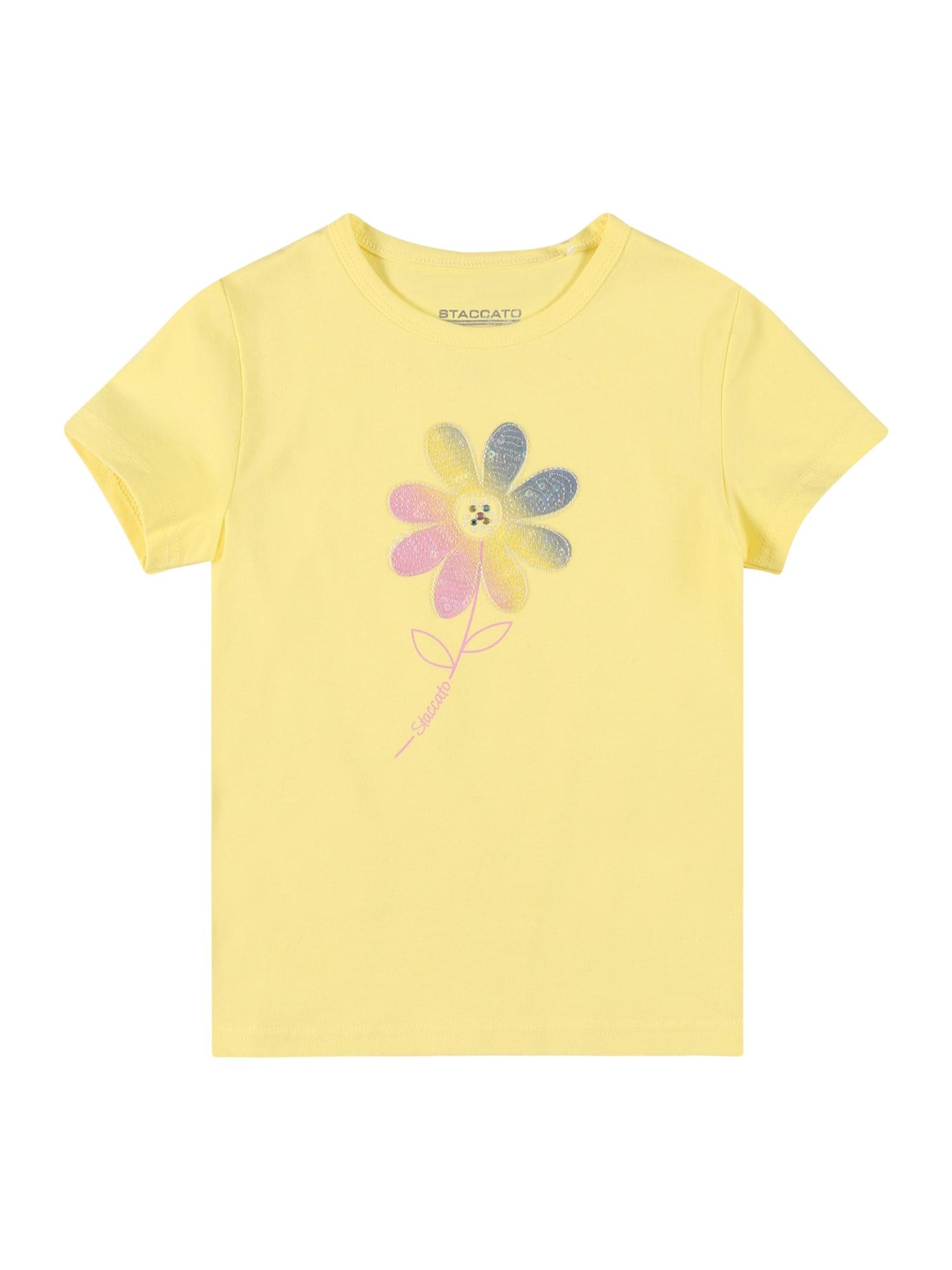 STACCATO Marškinėliai citrinos spalva / rožių spalva / dangaus žydra