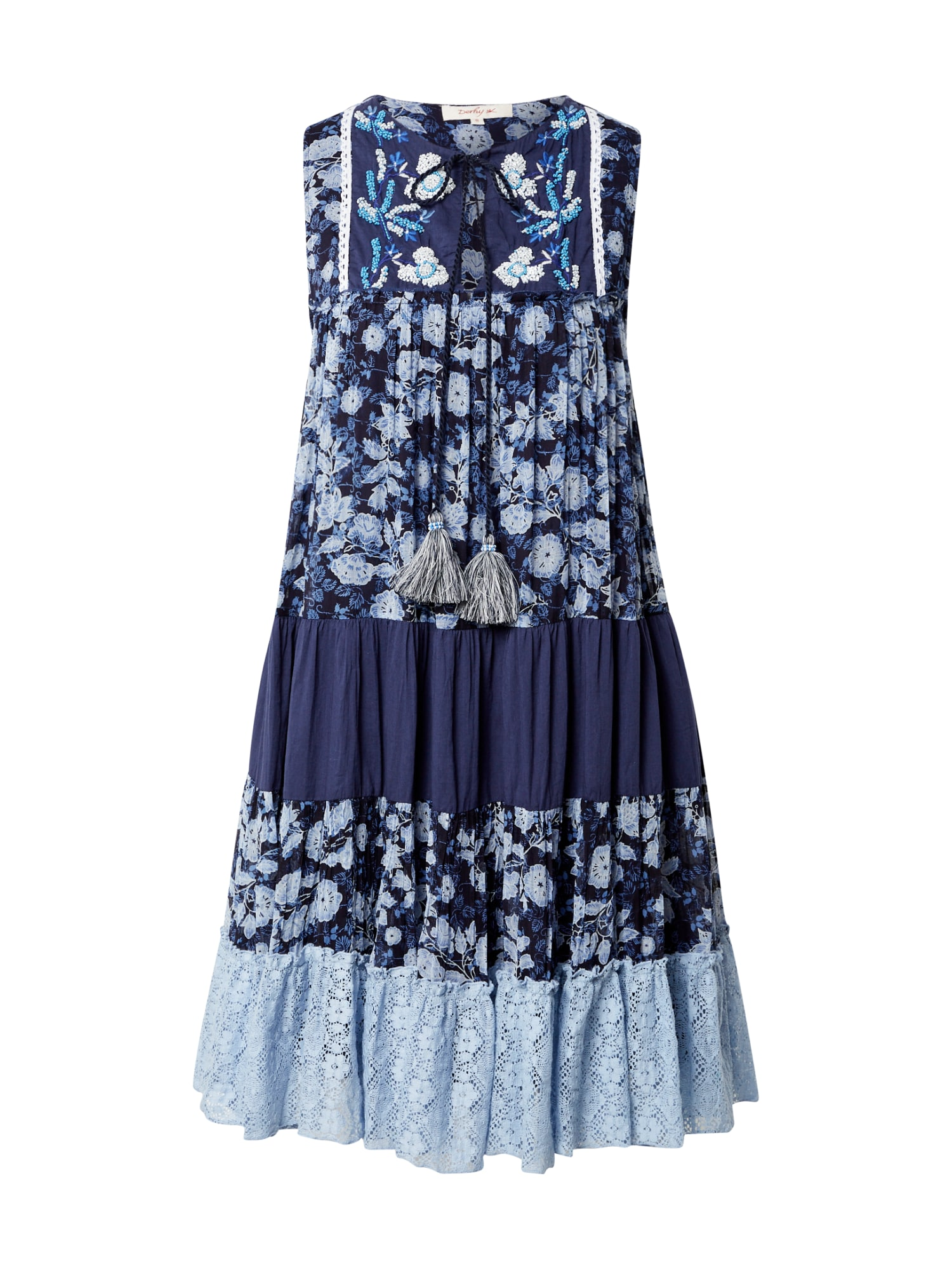 """Derhy Vasarinė suknelė 'SPONTANEE' tamsiai mėlyna jūros spalva / šviesiai mėlyna / sodri mėlyna (""""karališka"""")"""