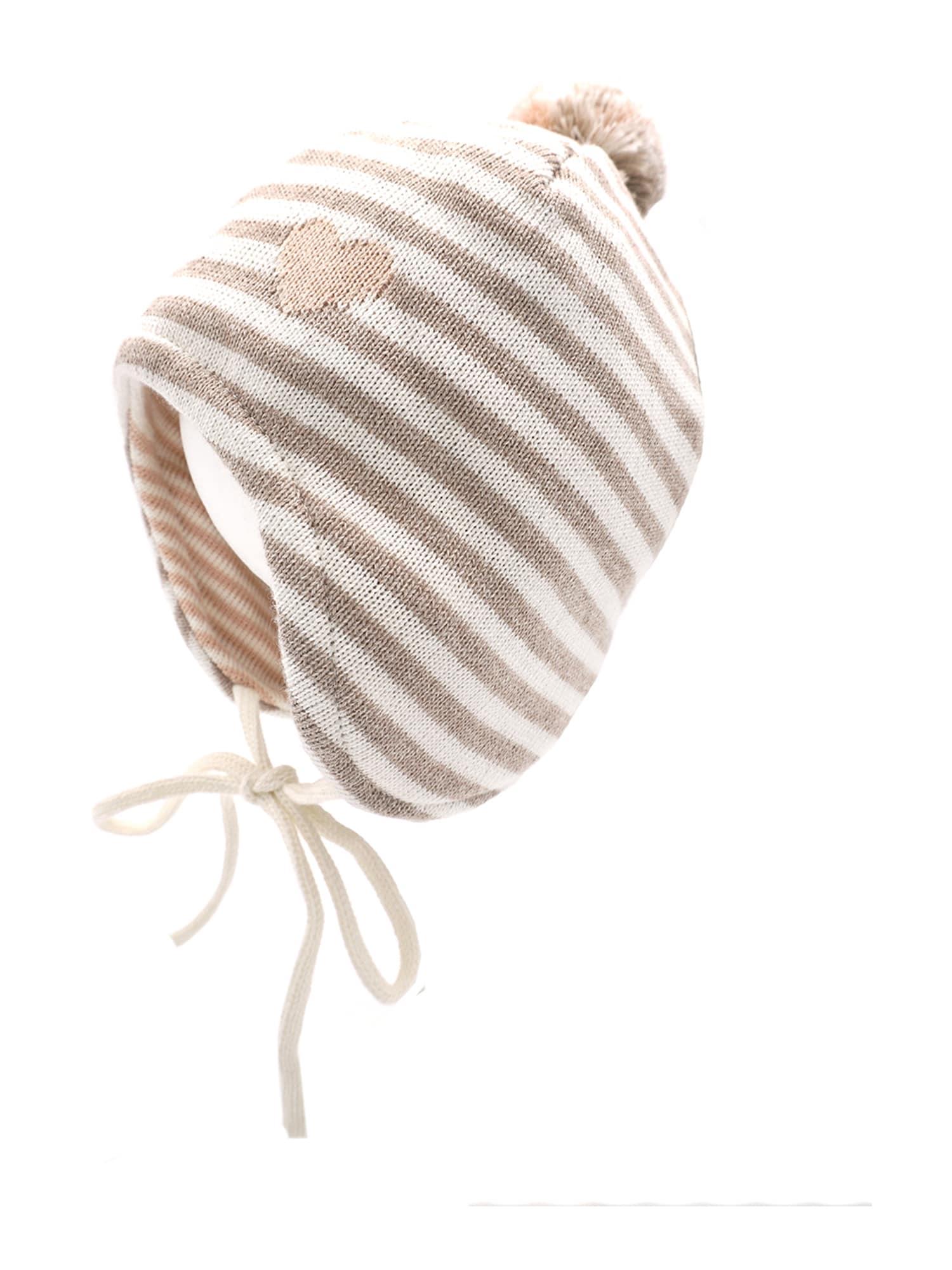 MAXIMO Megzta kepurė vilnos balta / smėlio