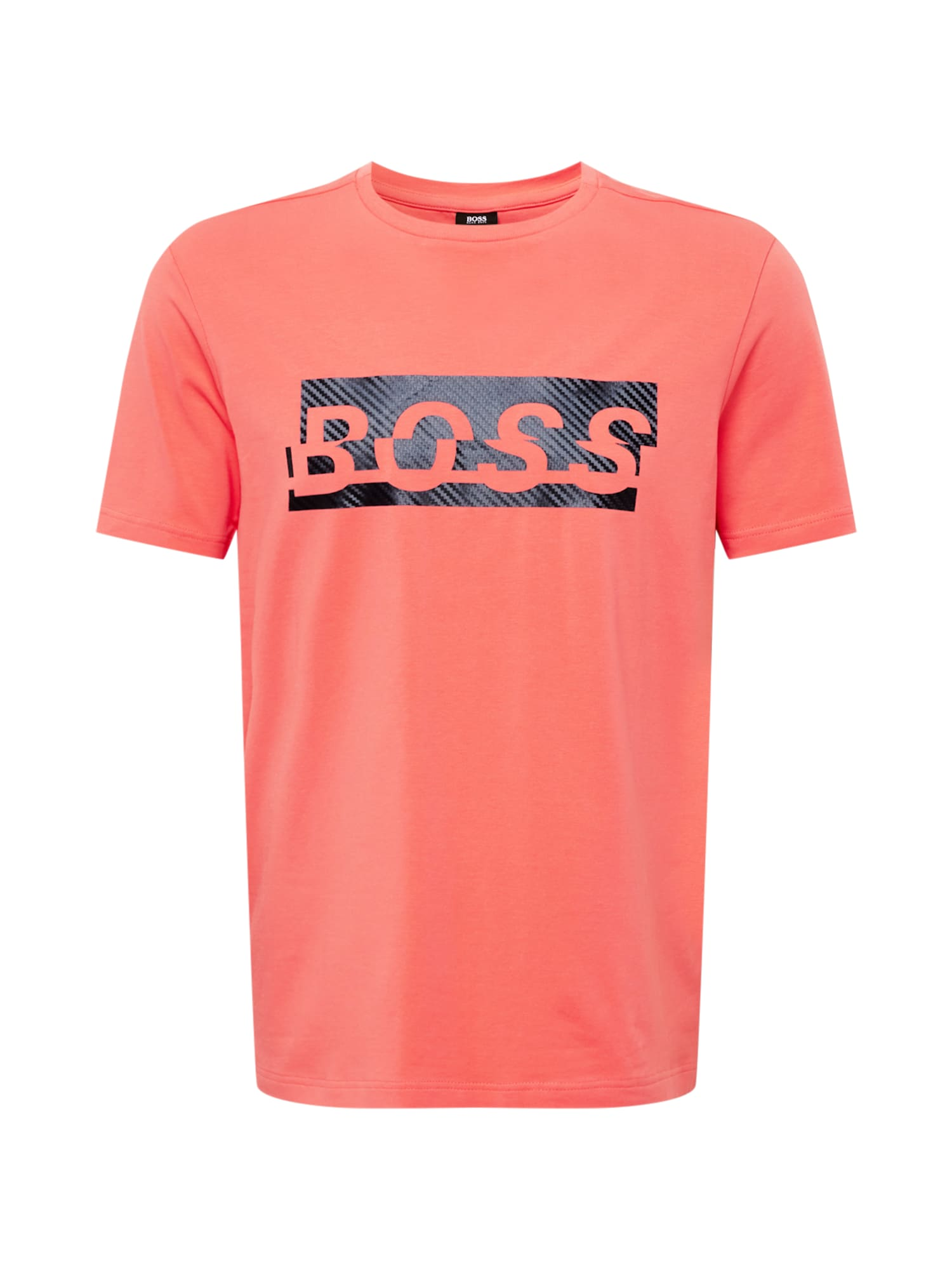 BOSS ATHLEISURE Marškinėliai melionų spalva / juoda