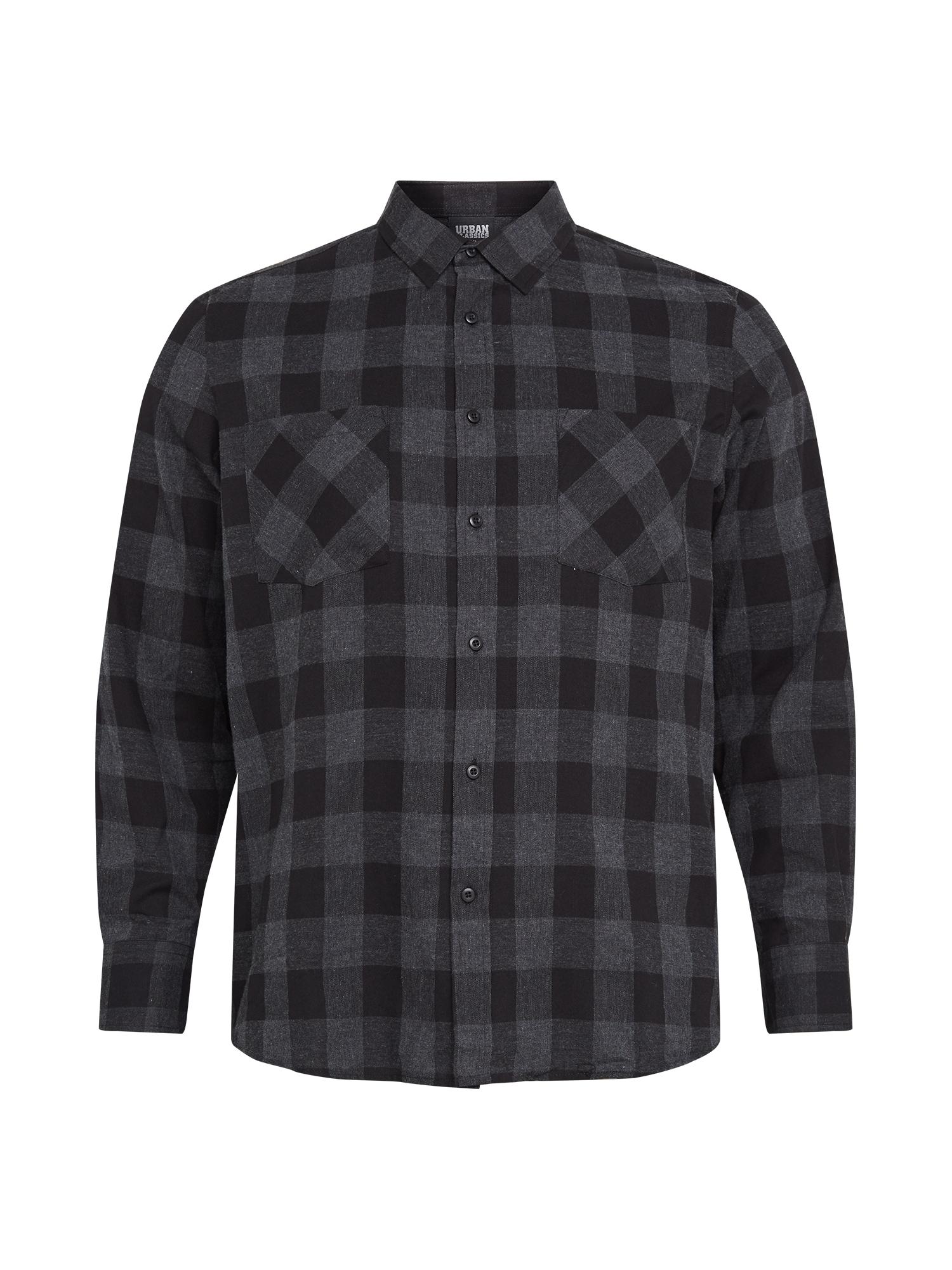 Urban Classics Big & Tall Marškiniai pilka / juoda