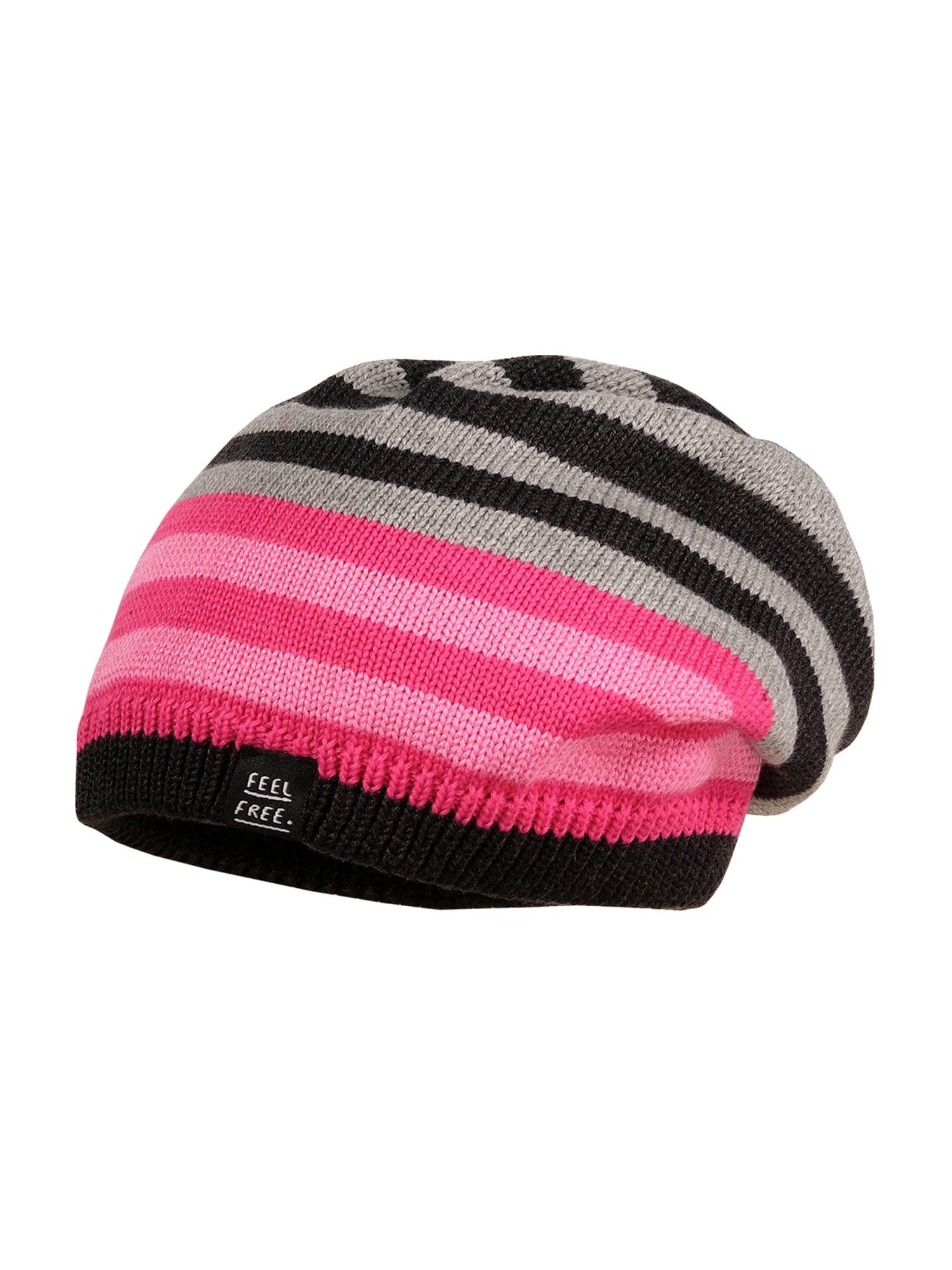 MAXIMO Megzta kepurė rožinė / juoda / sidabrinė