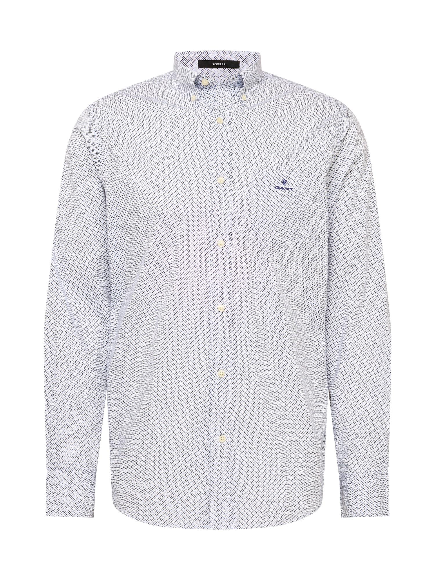GANT Marškiniai balta / turkio spalva / nakties mėlyna