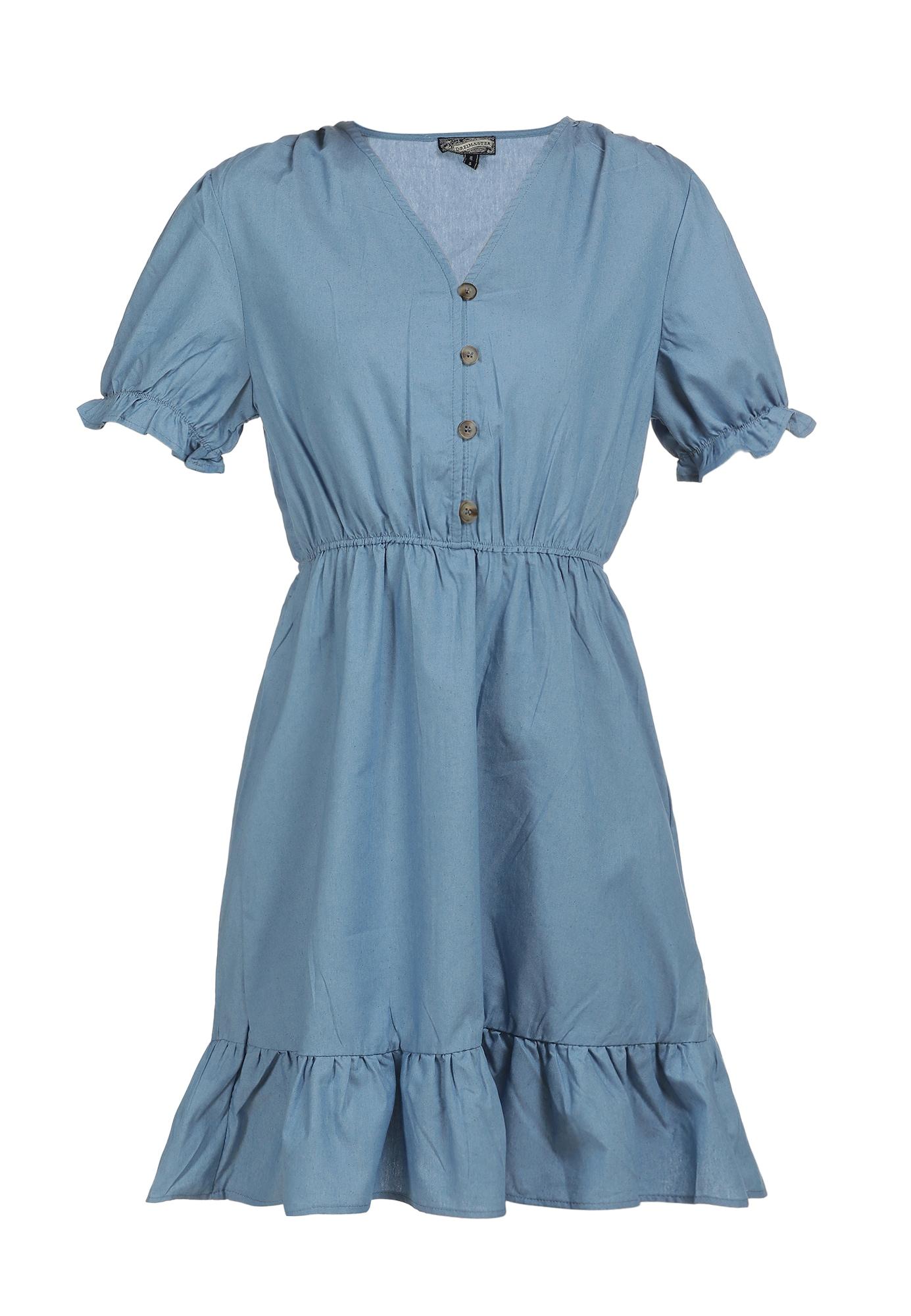 DreiMaster Vintage Vasarinė suknelė mėlyna dūmų spalva