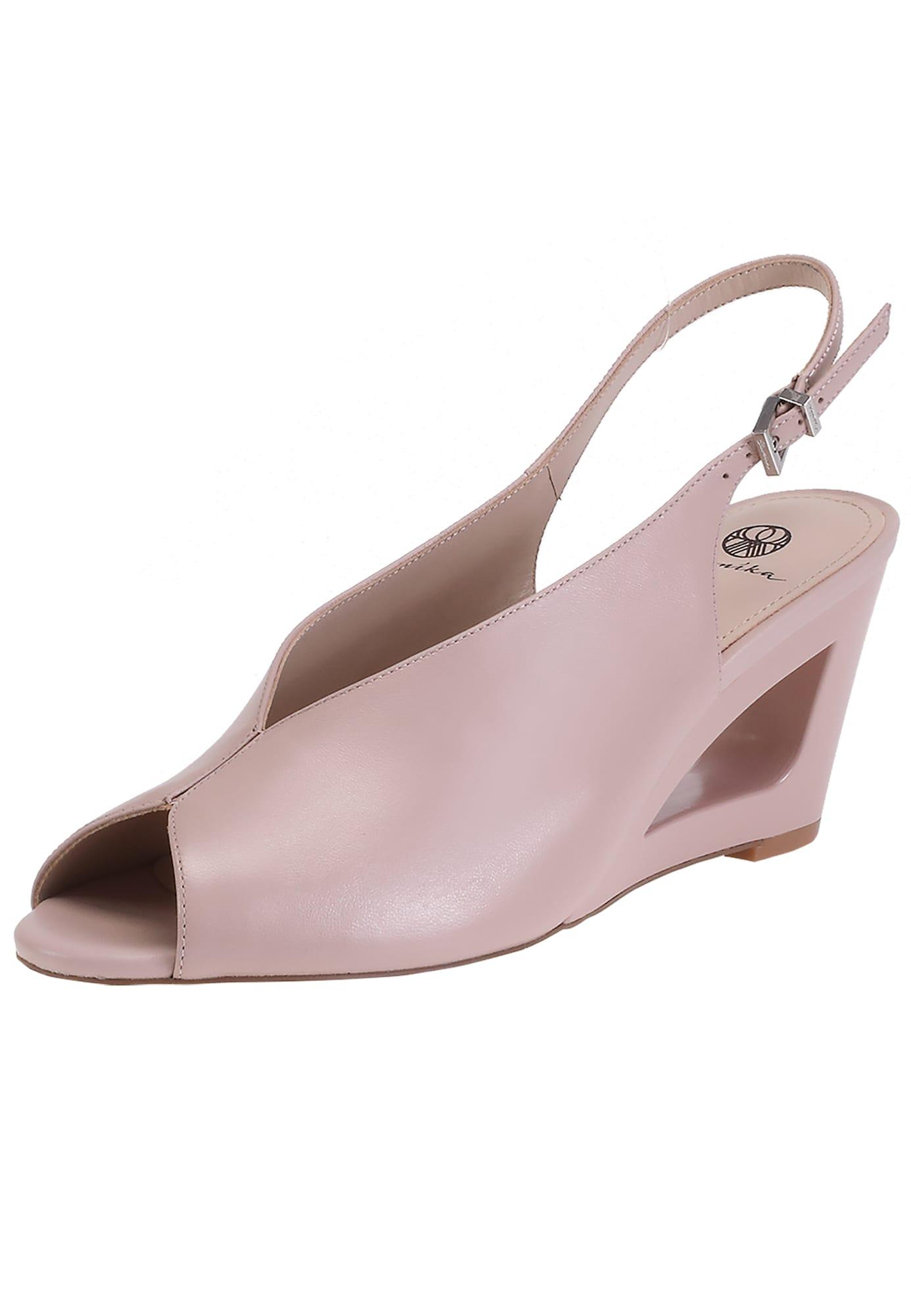 Peeptoes aus glattem Leder | Schuhe > Pumps > Peeptoes | Ekonika