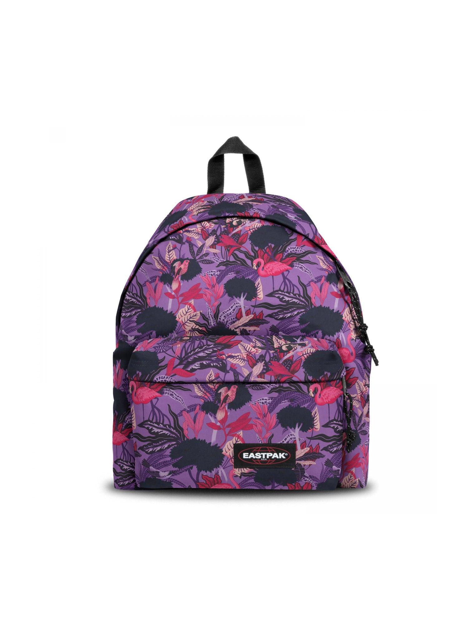 EASTPAK Kuprinė tamsiai violetinė / rožinė / rožių spalva