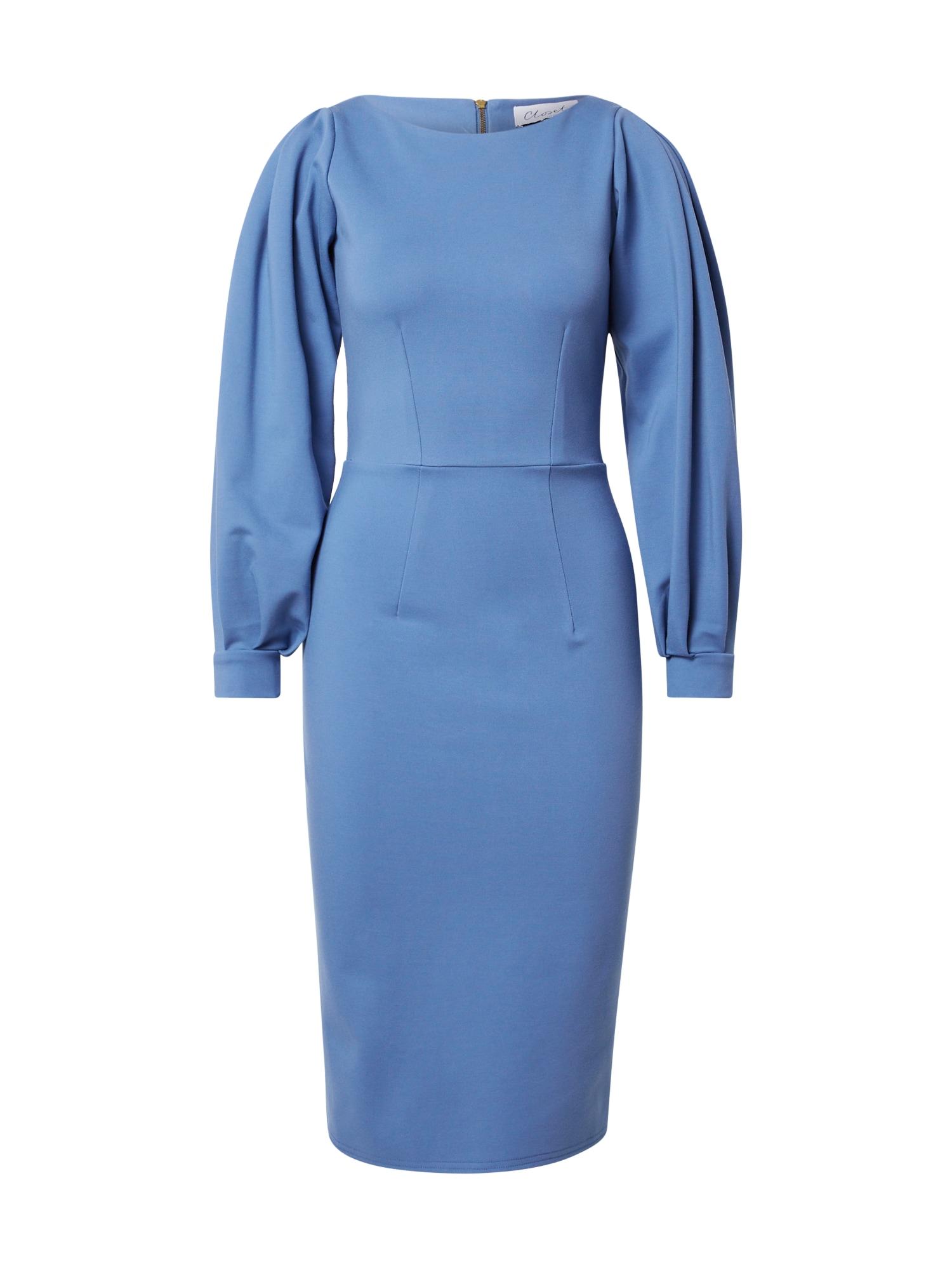 Closet London Suknelė mėlyna dūmų spalva