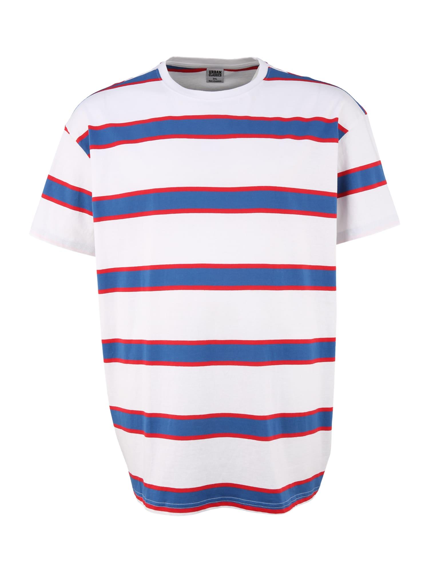 """Urban Classics Plus Size Marškinėliai balta / sodri mėlyna (""""karališka"""") / spanguolių spalva"""