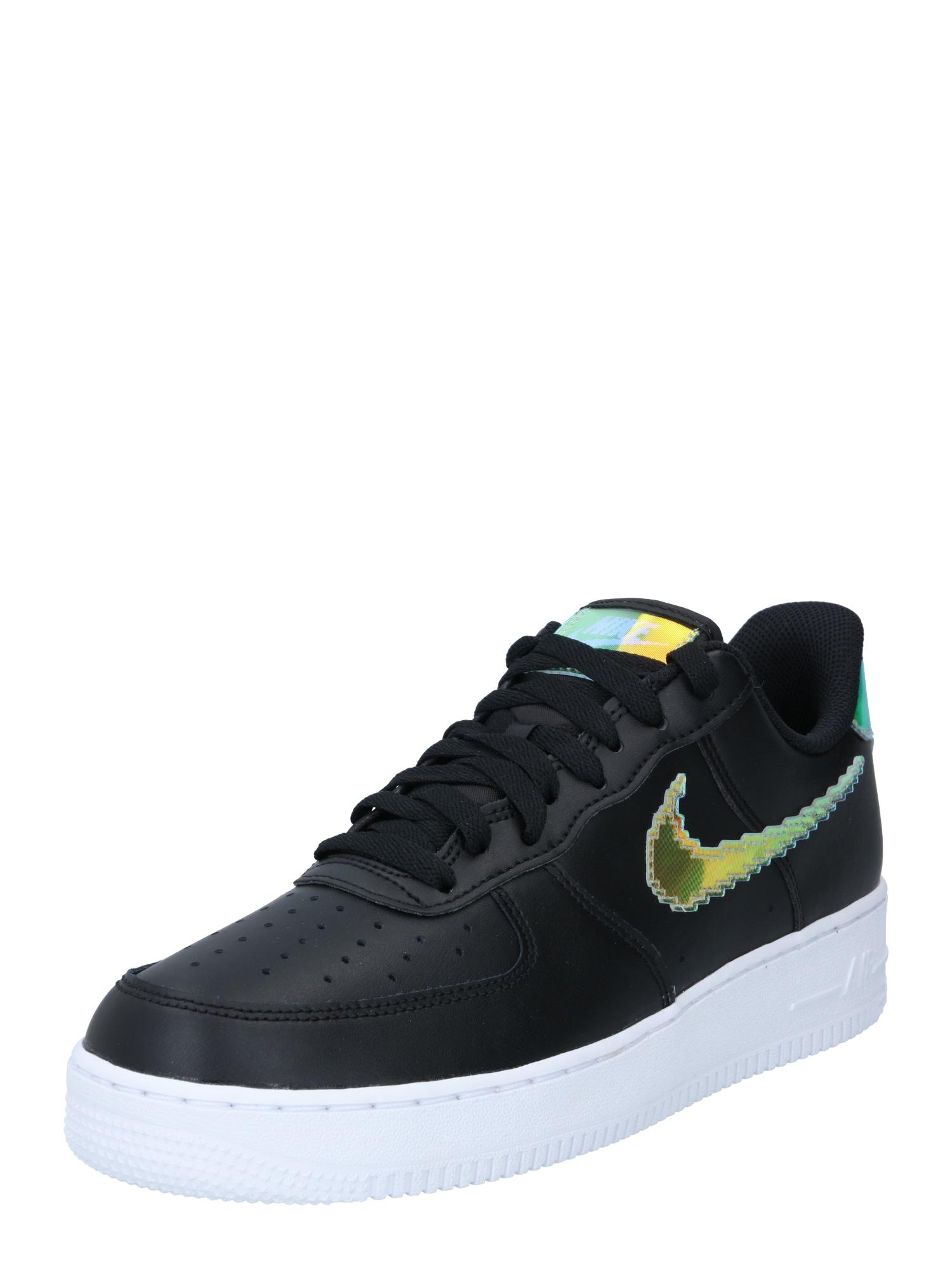 Nike Sportswear Sportbačiai su auliuku 'Force 1 '07 LV8' juoda / geltona / nefrito spalva