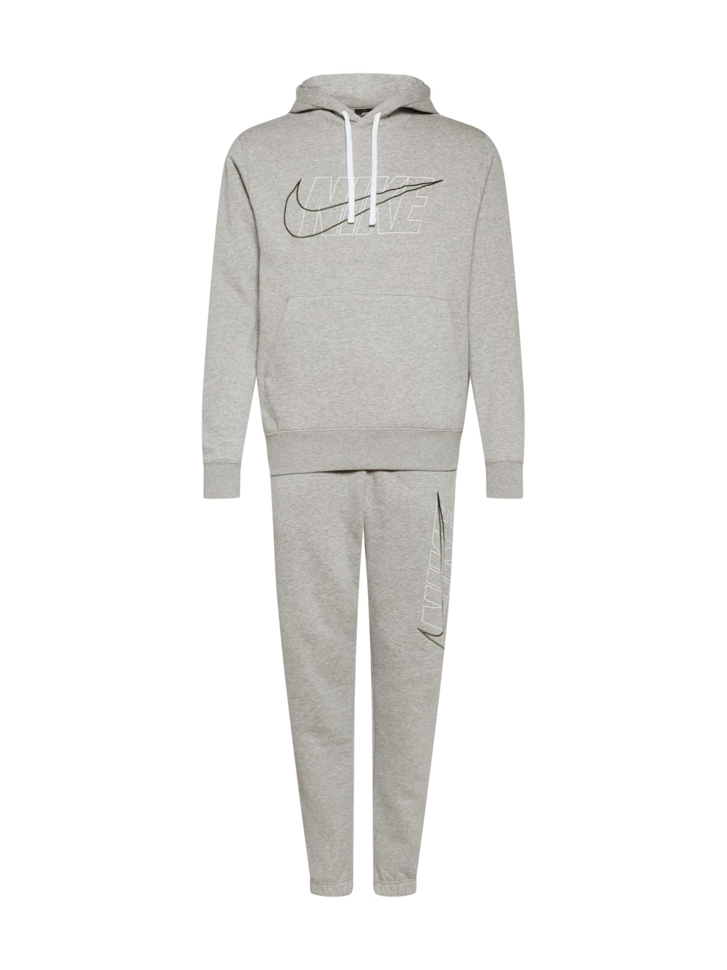 Nike Sportswear Treningas margai pilka / balta / juoda
