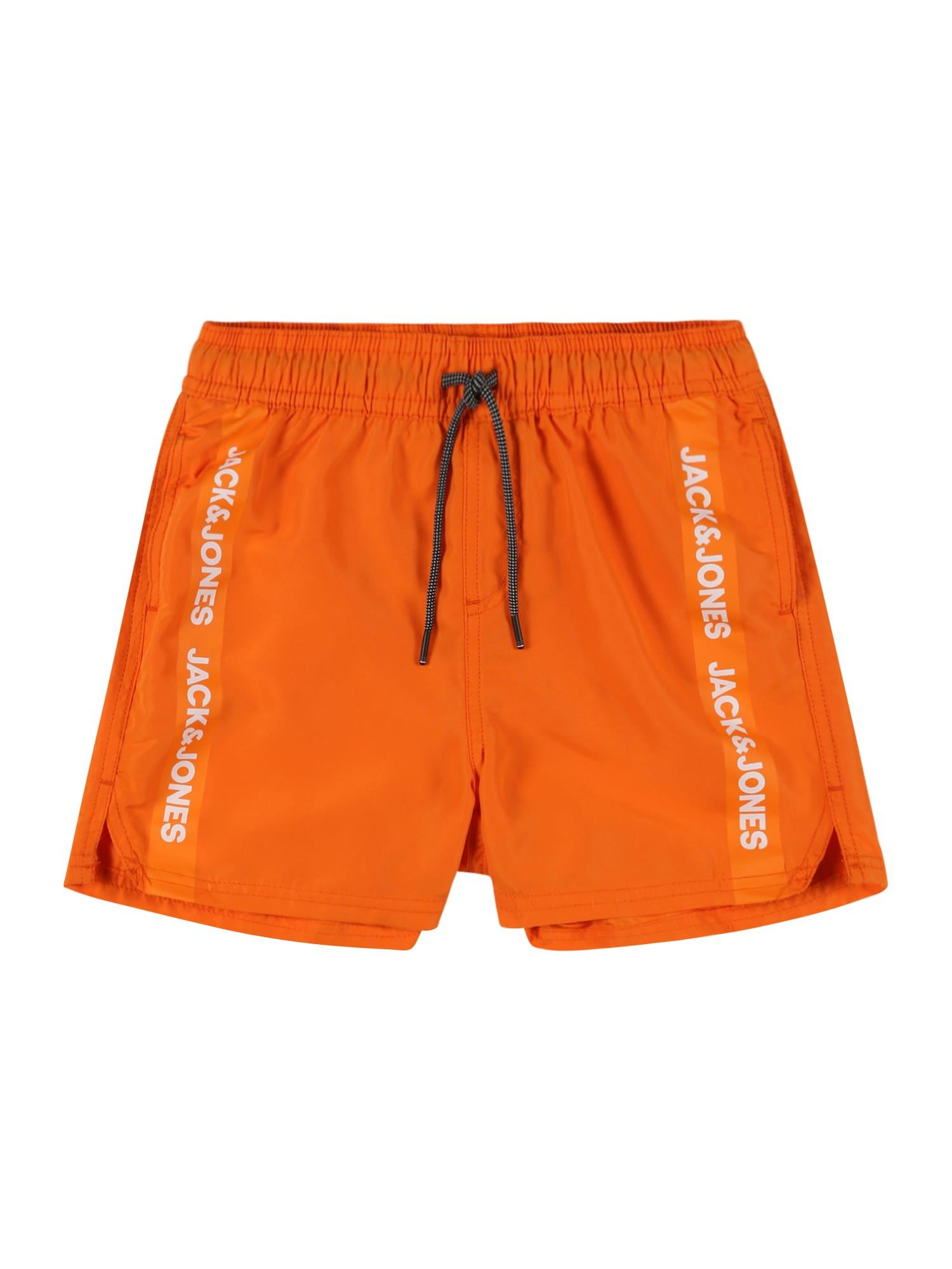 Jack & Jones Junior Maudymosi trumpikės oranžinė / balta
