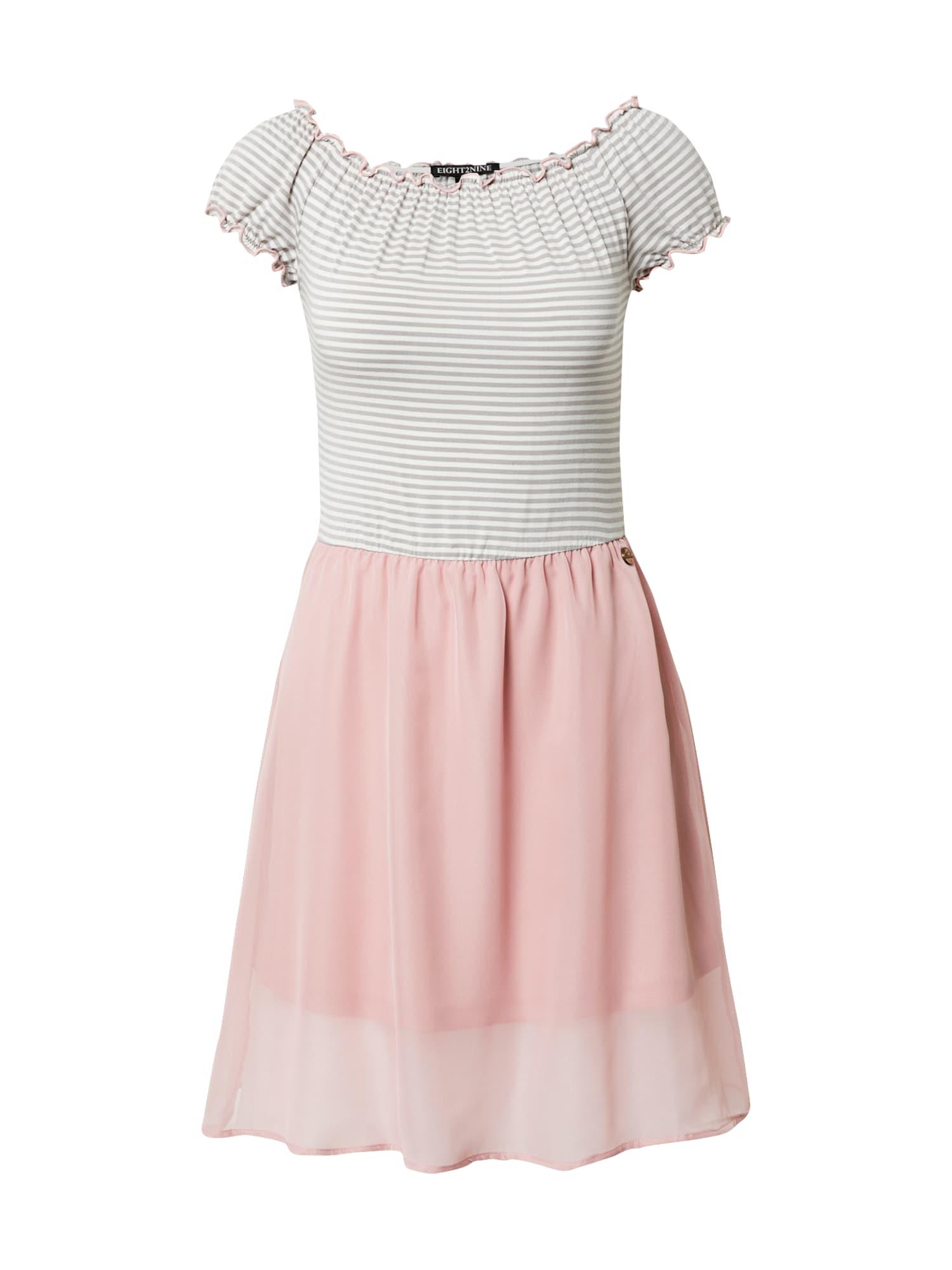 Eight2Nine Suknelė rožių spalva / balta