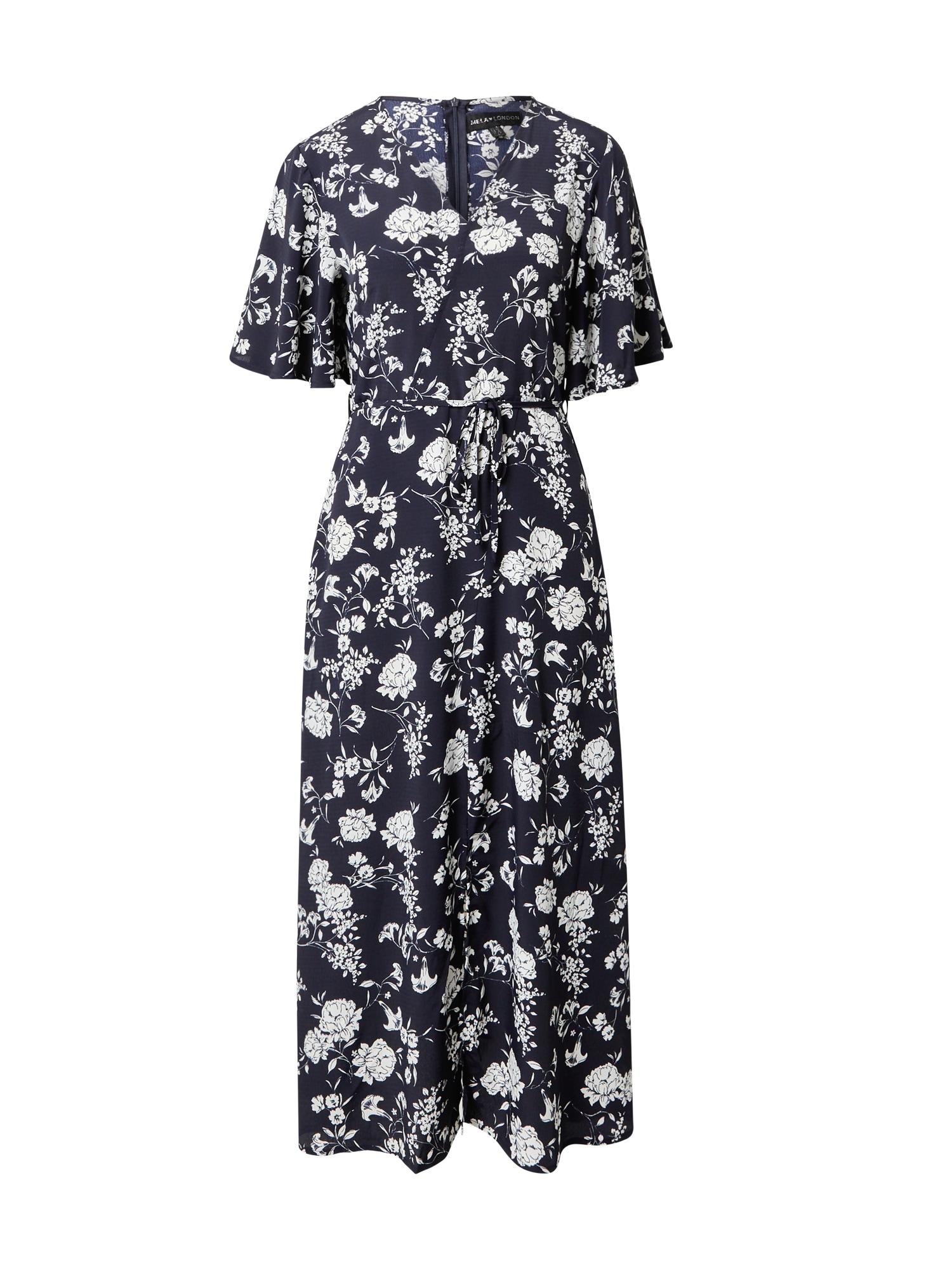 Mela London Suknelė tamsiai mėlyna / balta