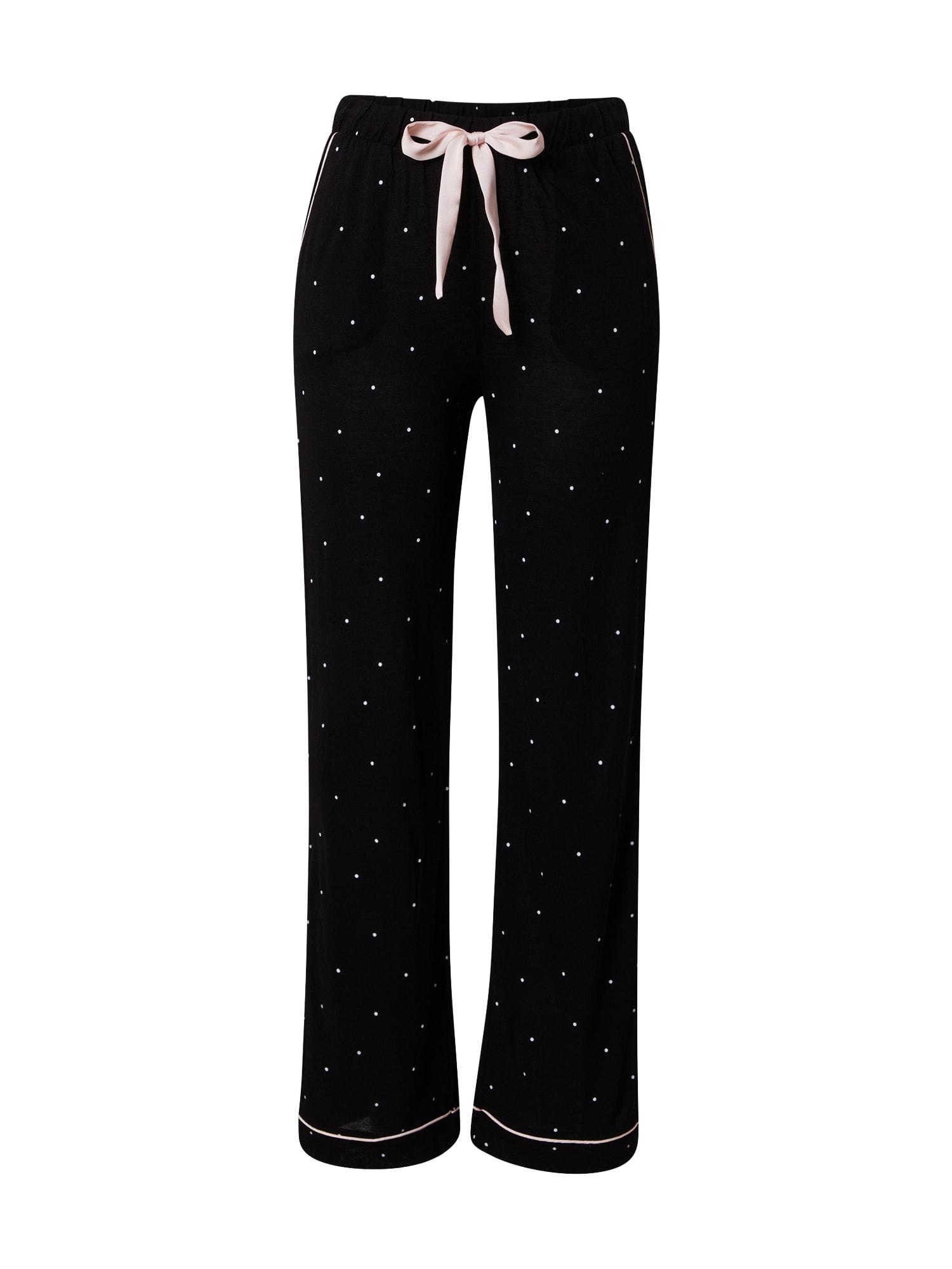 OVS Pyžamové kalhoty  černá / růžová / bílá