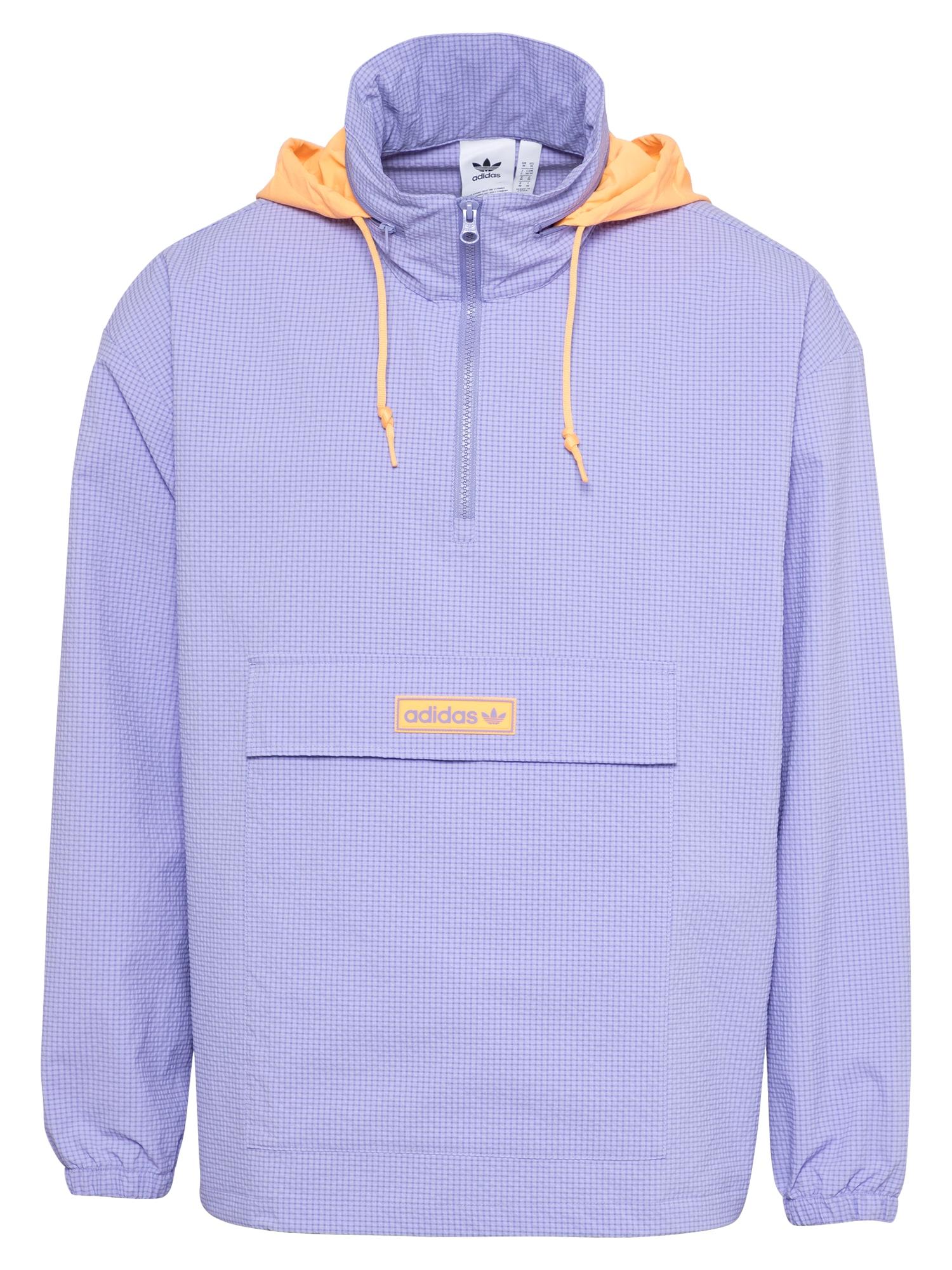 ADIDAS ORIGINALS Demisezoninė striukė purpurinė / abrikosų spalva