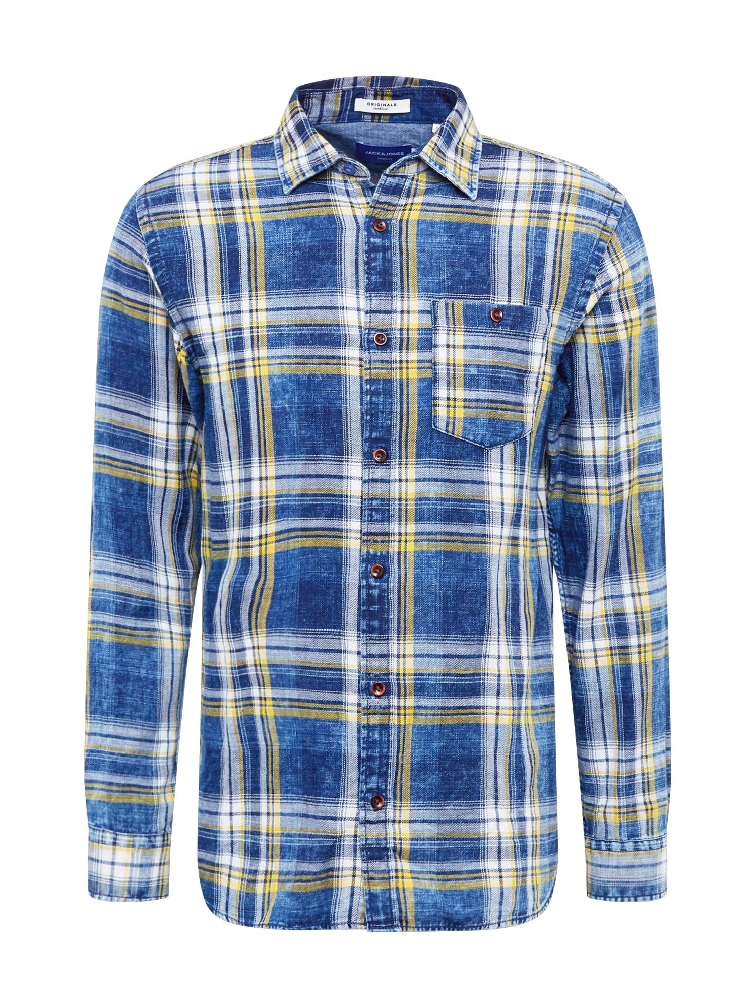 JACK & JONES Košile  modrá / mix barev