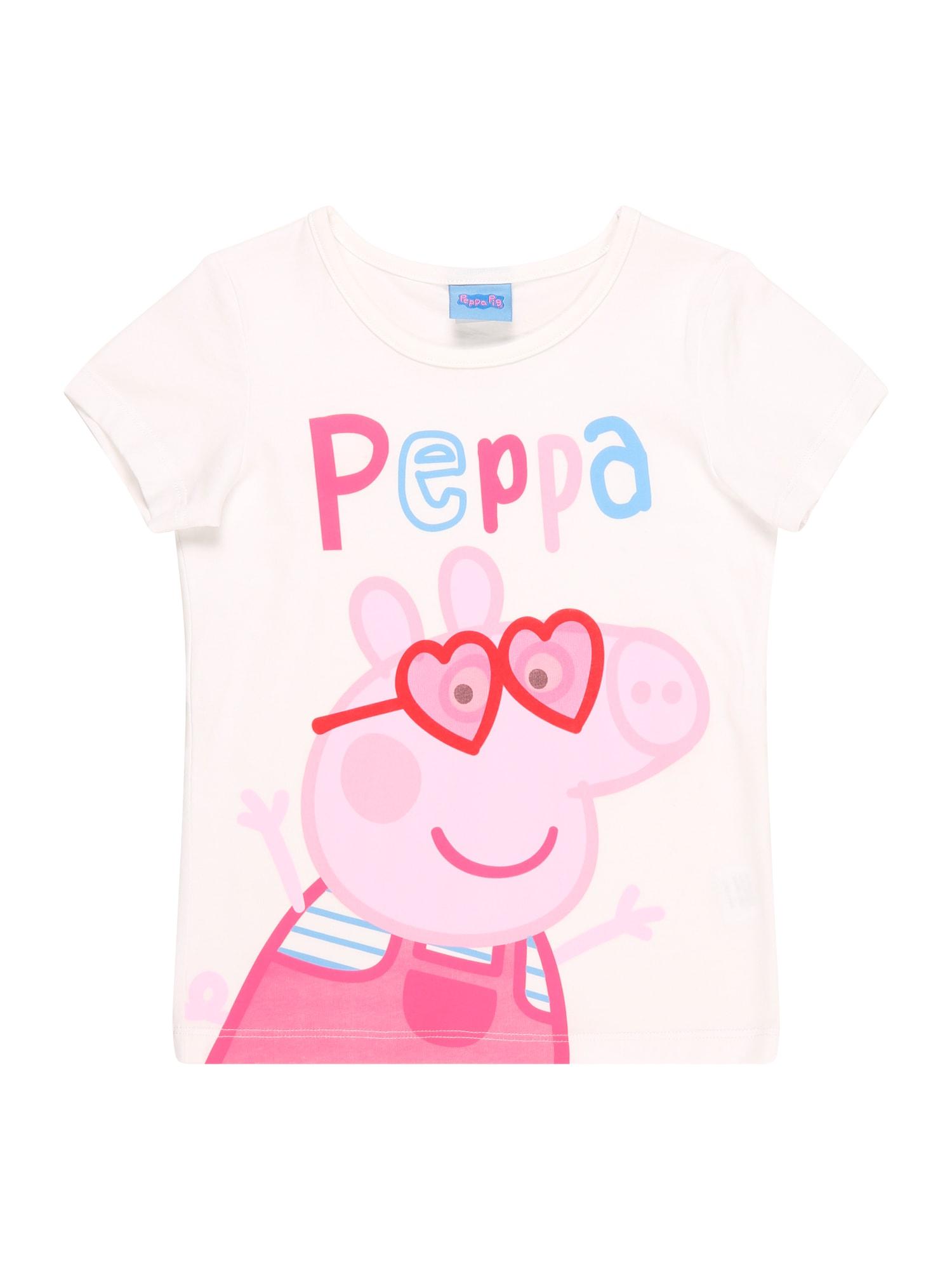 Peppa Pig Marškinėliai balta / mišrios spalvos