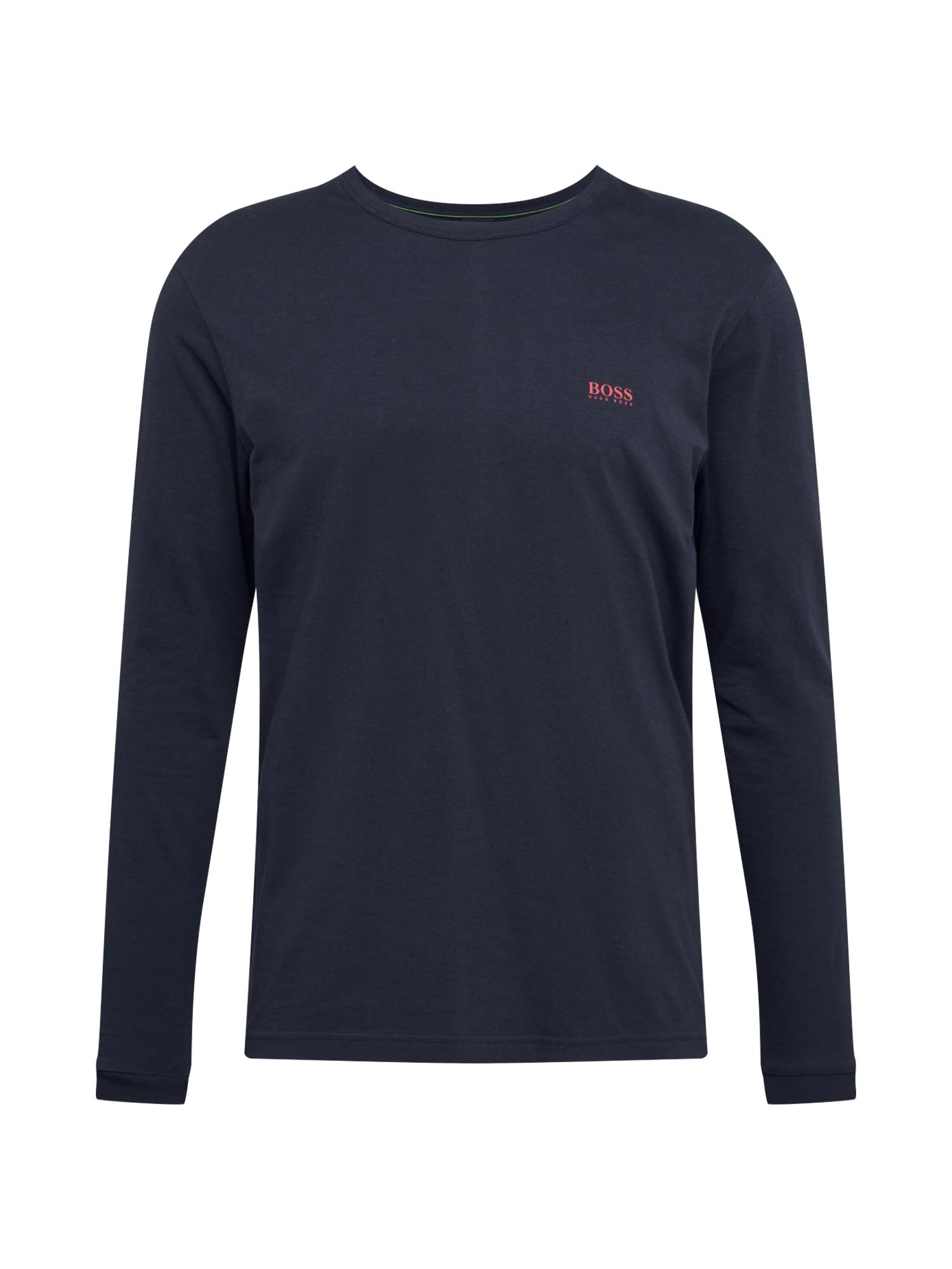 BOSS ATHLEISURE Marškinėliai 'Togn' nakties mėlyna / melionų spalva