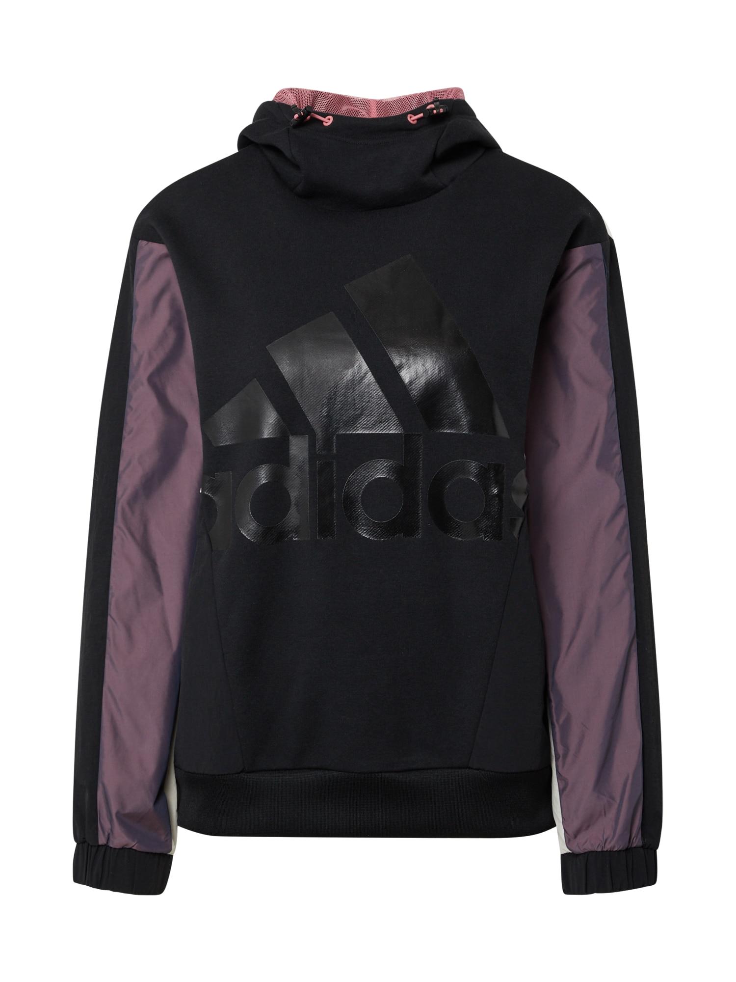 ADIDAS PERFORMANCE Sportinio tipo megztinis juoda / uogų spalva / smėlio