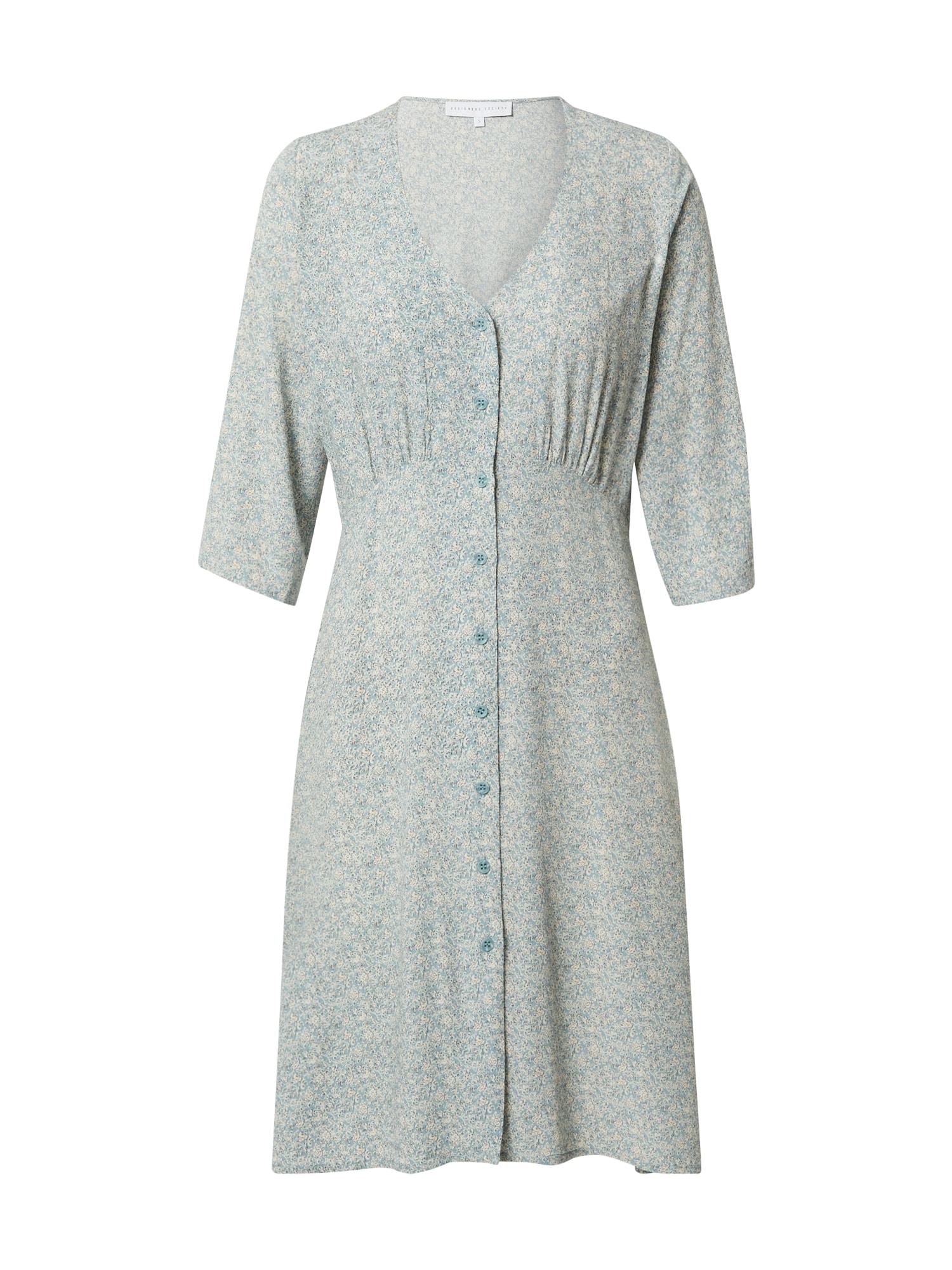 Designers Society Palaidinės tipo suknelė šviesiai mėlyna / balta / juoda / smėlio spalva