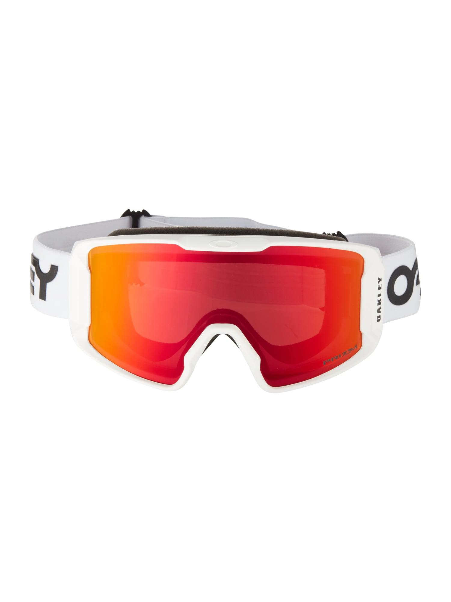 OAKLEY Sportiniai akiniai 'Line Miner M' raudona / balta