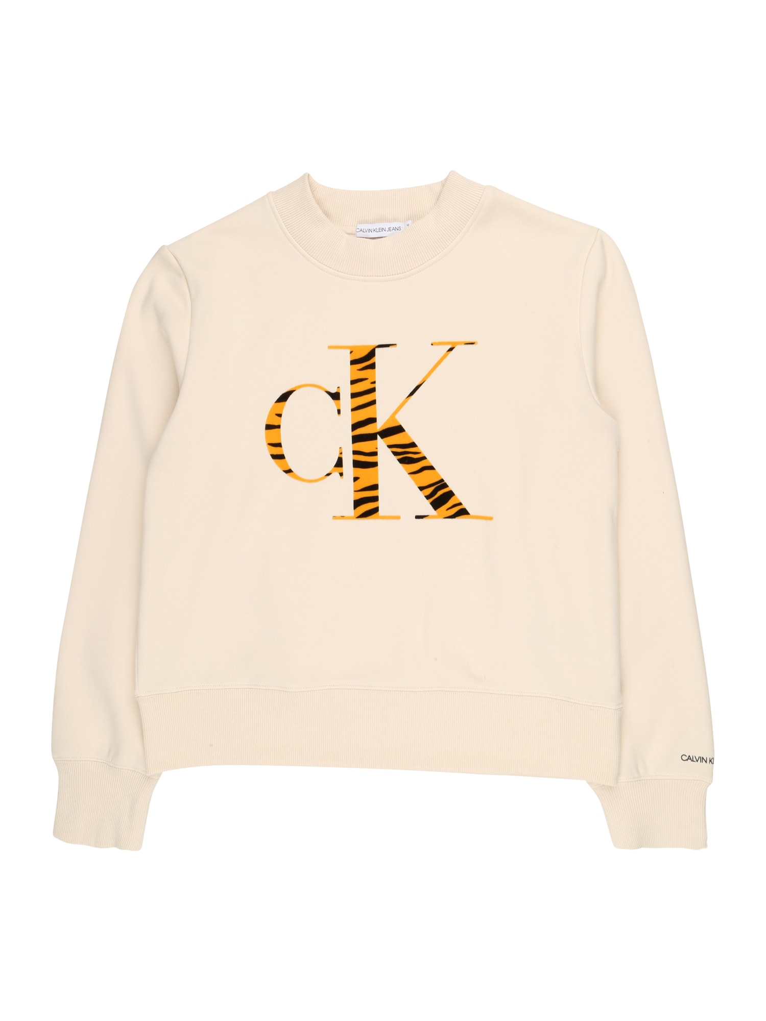 Calvin Klein Jeans Mikina 'URBAN'  béžová / oranžová / černá