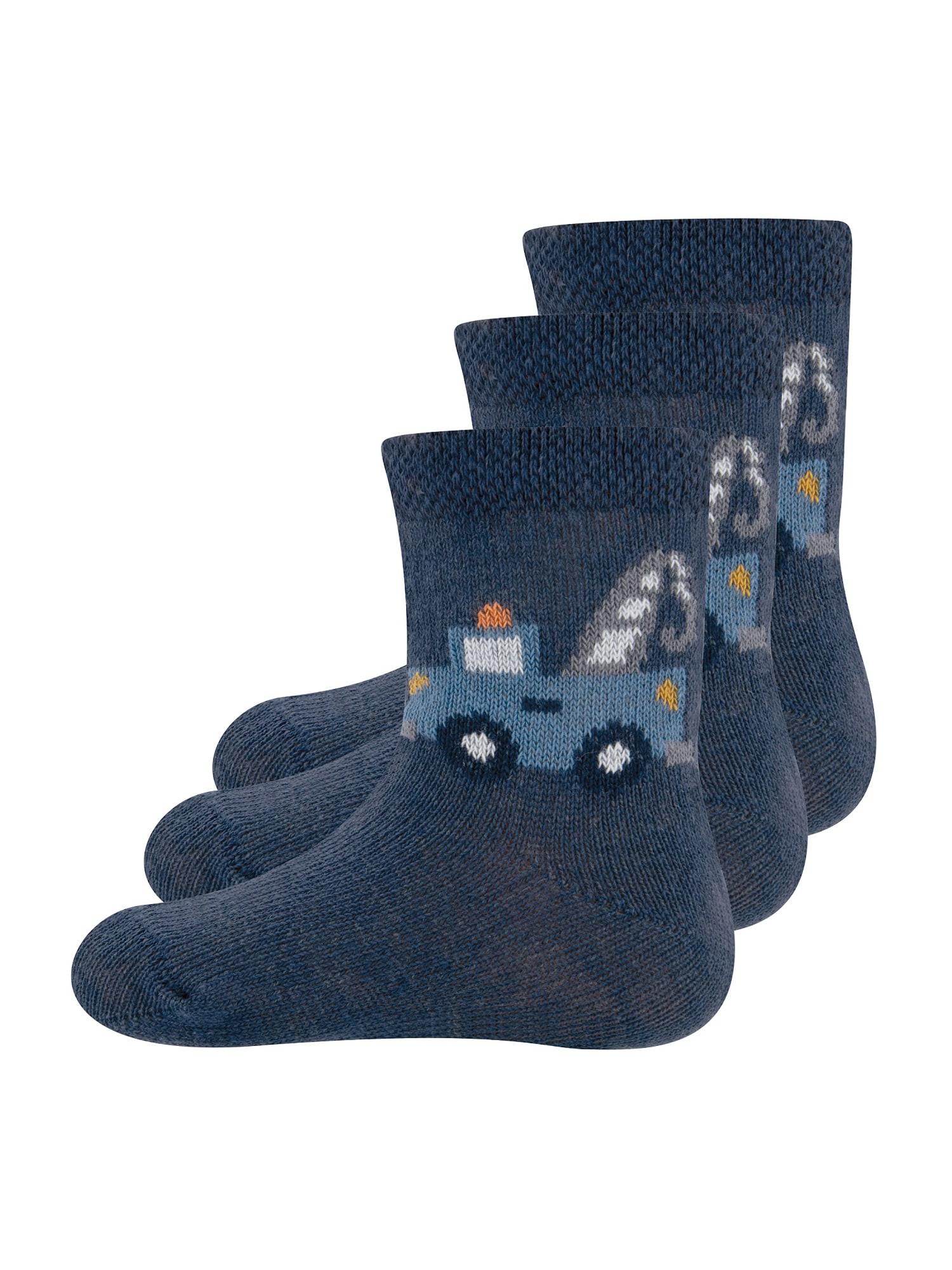 EWERS Kojinės 'Kranwagen' tamsiai mėlyna / mėlyna dūmų spalva / balta / tamsiai pilka / oranžinė