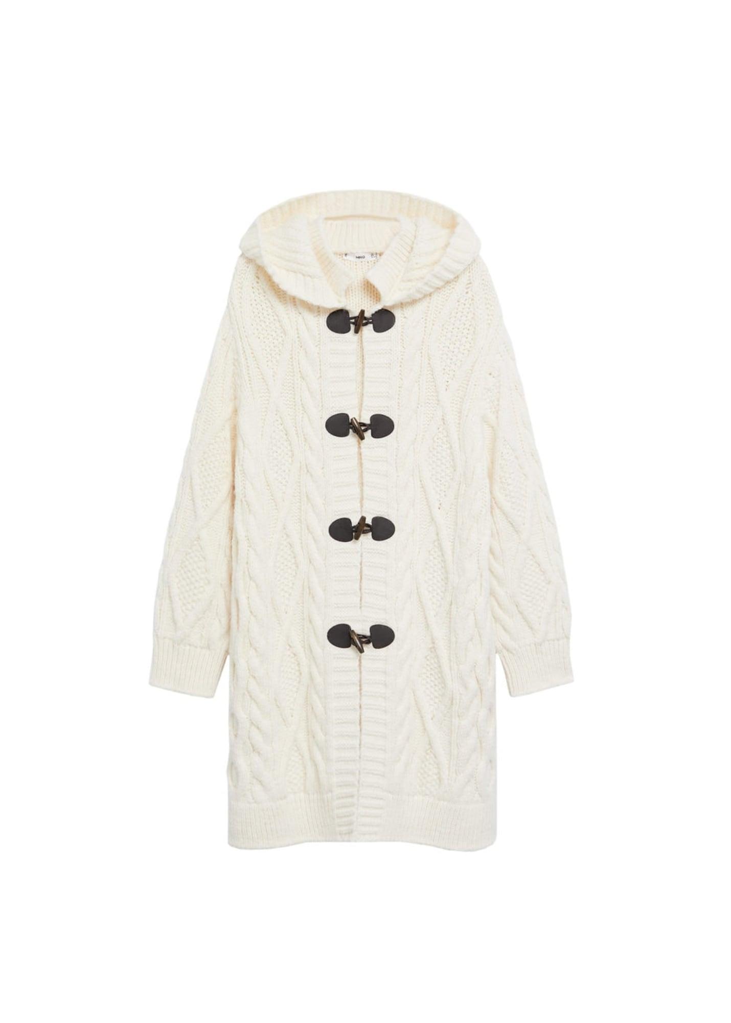 MANGO Pletený kabátek 'Mara'  krémová