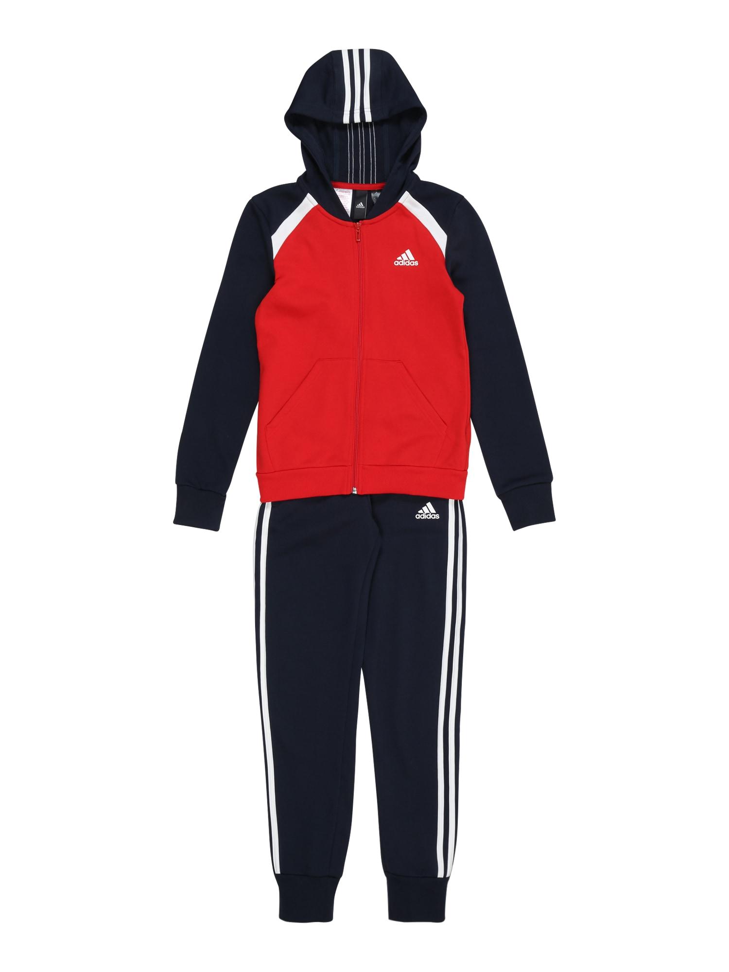 ADIDAS PERFORMANCE Treniruočių kostiumas balta / raudona / juoda