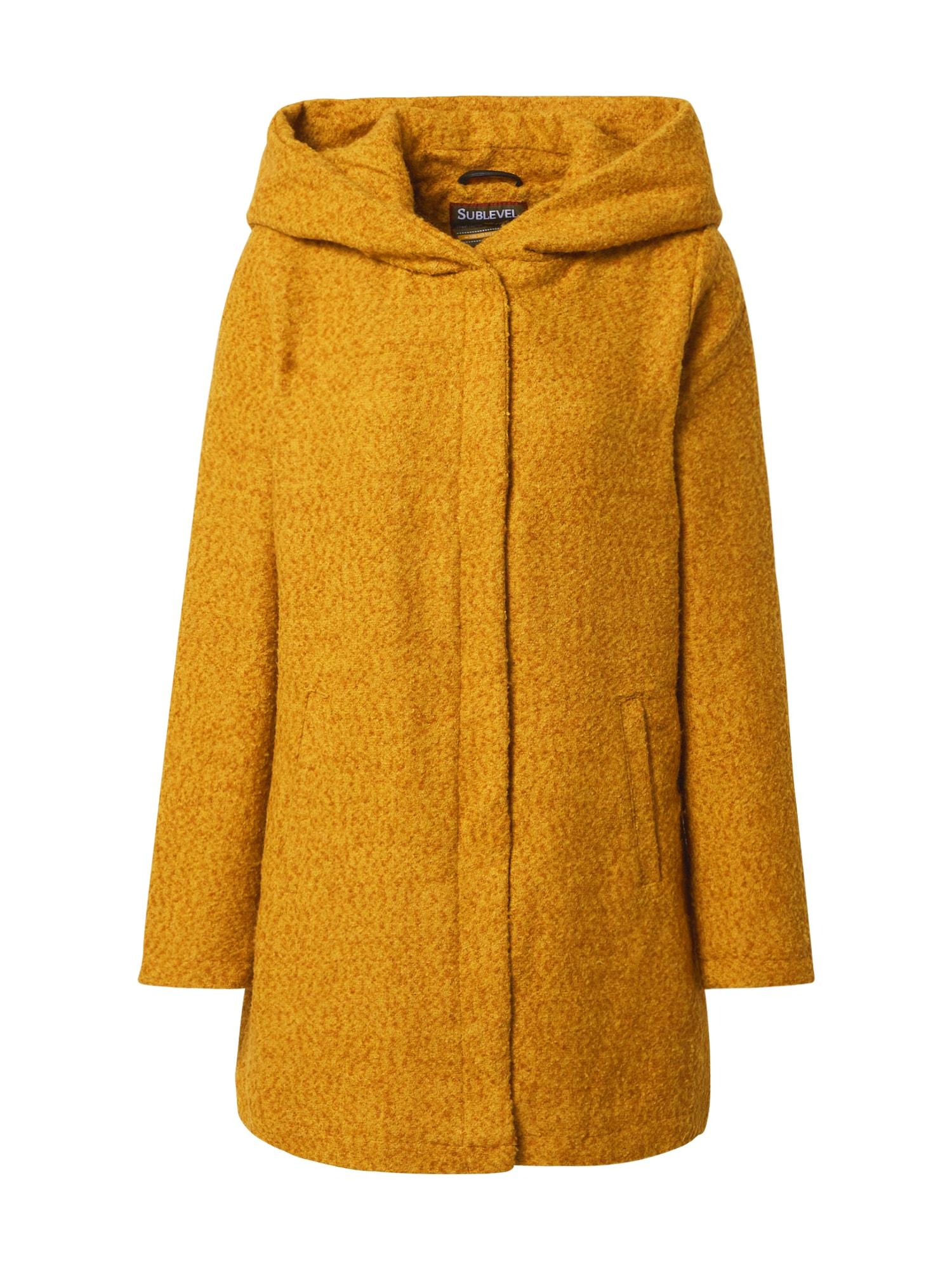 Sublevel Demisezoninis paltas geltona