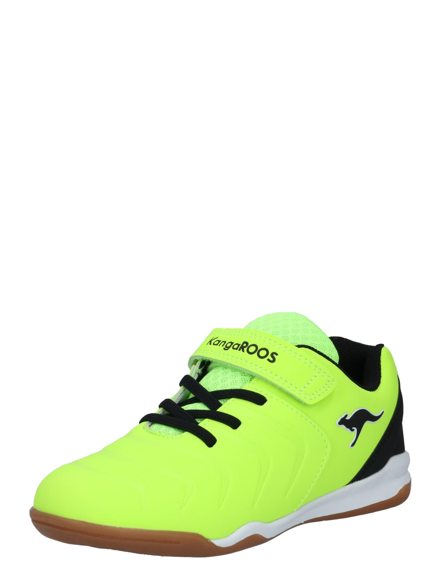 KangaROOS Sportbačiai juoda / neoninė geltona