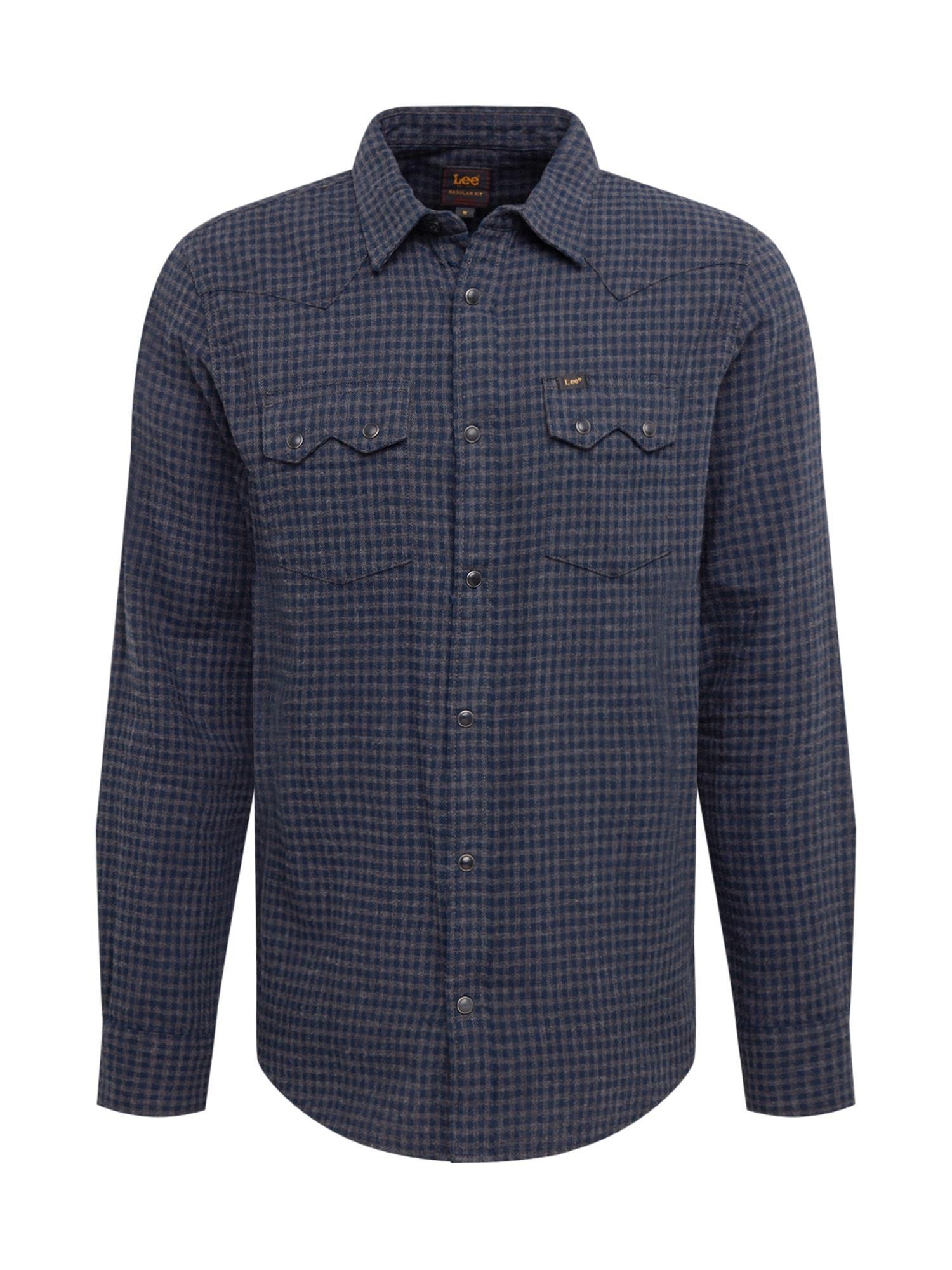 Lee Košile 'Rider'  tmavě šedá / modrá