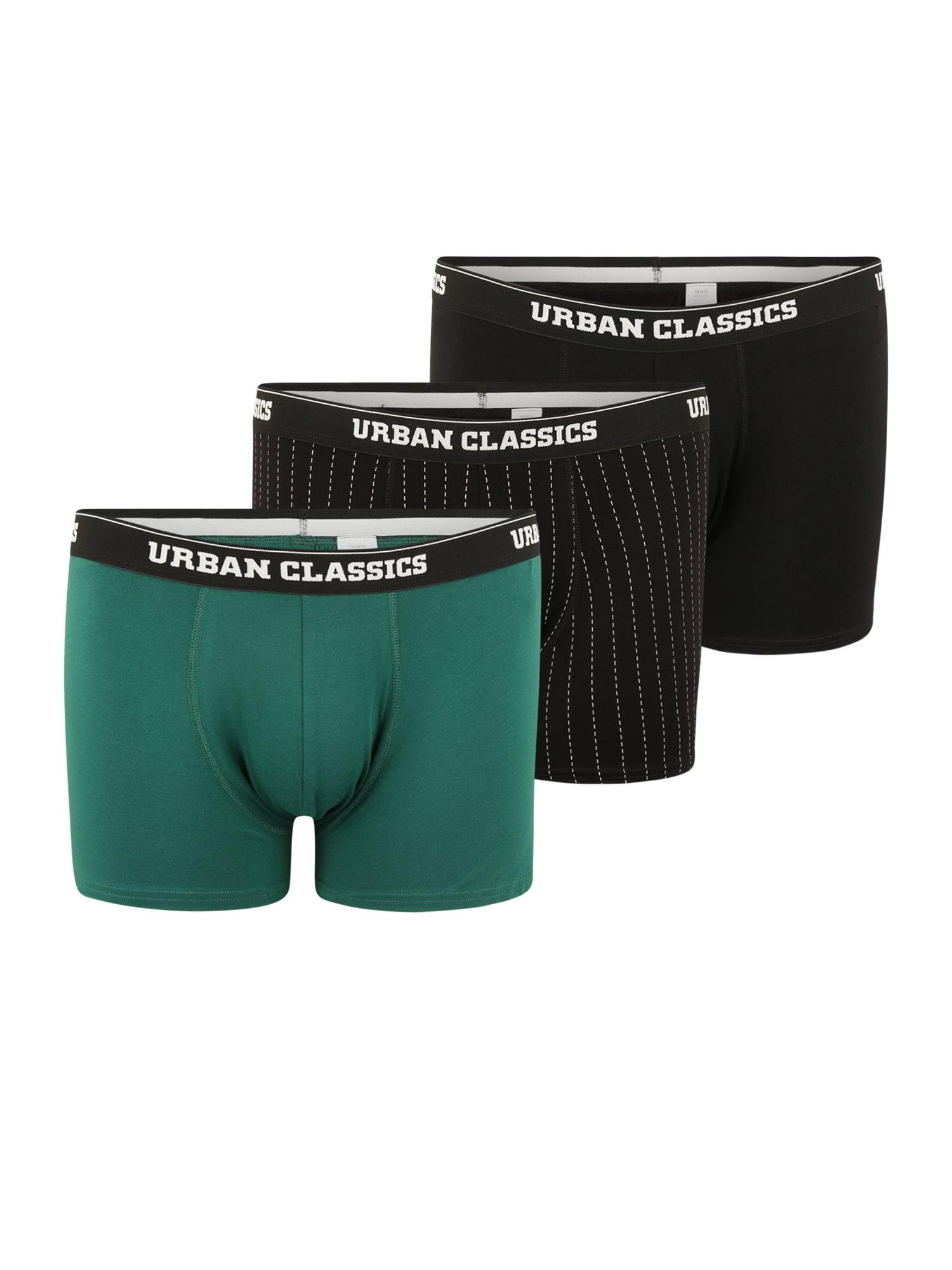 Urban Classics Plus Size Boxer trumpikės juoda / žalia