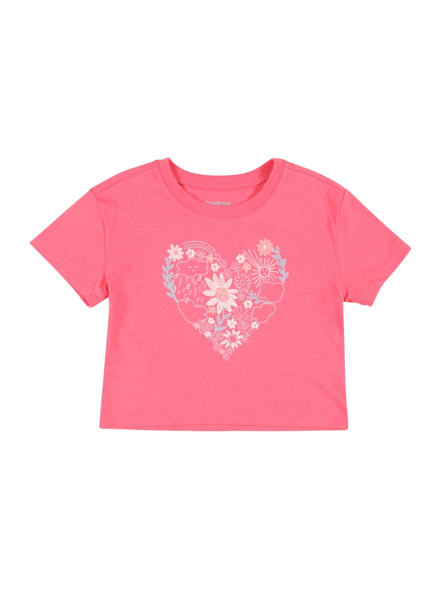 OshKosh Marškinėliai rožių spalva / šviesiai mėlyna / smėlio spalva / balta