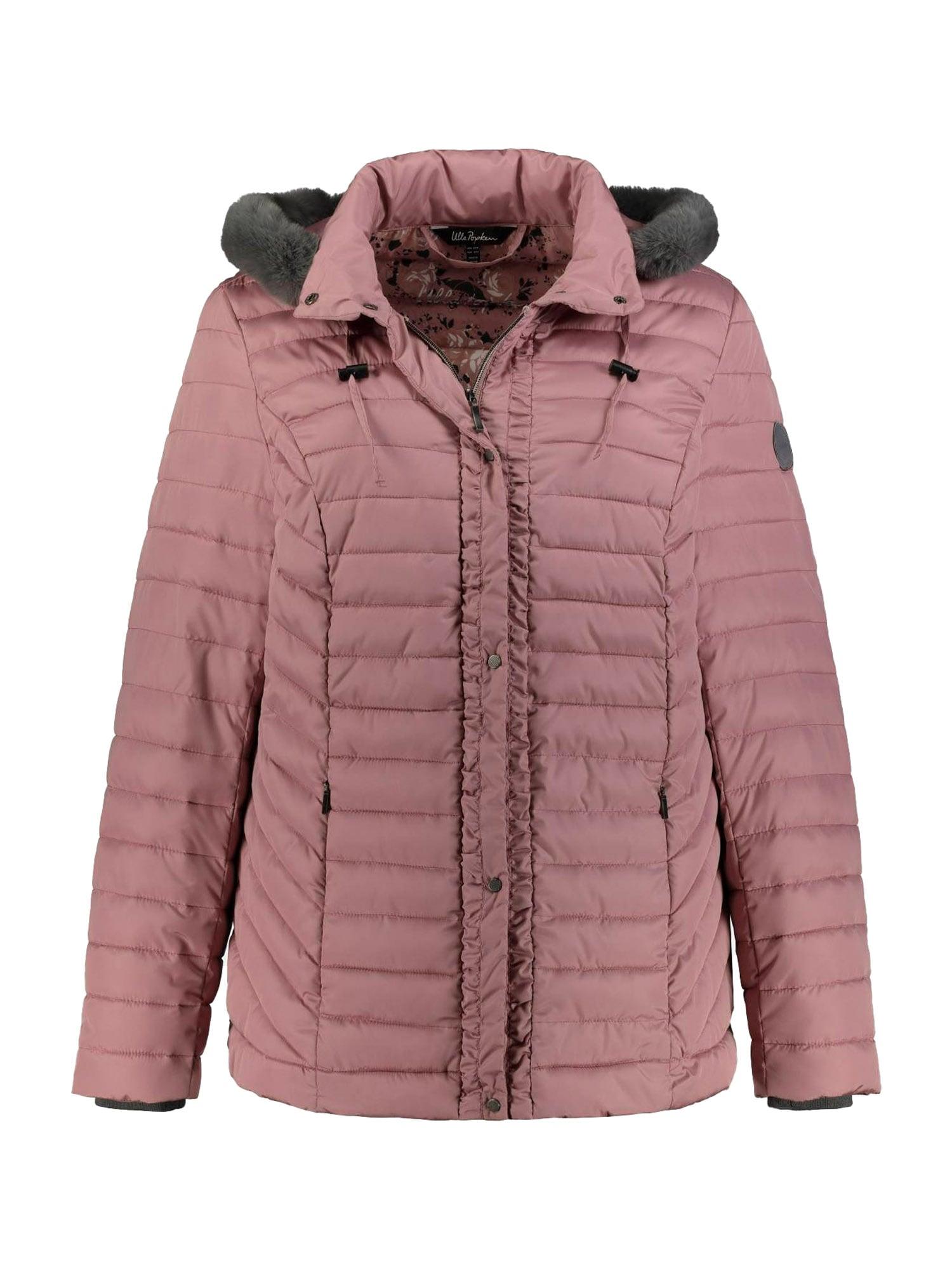 Ulla Popken Zimná bunda  farba lesného ovocia