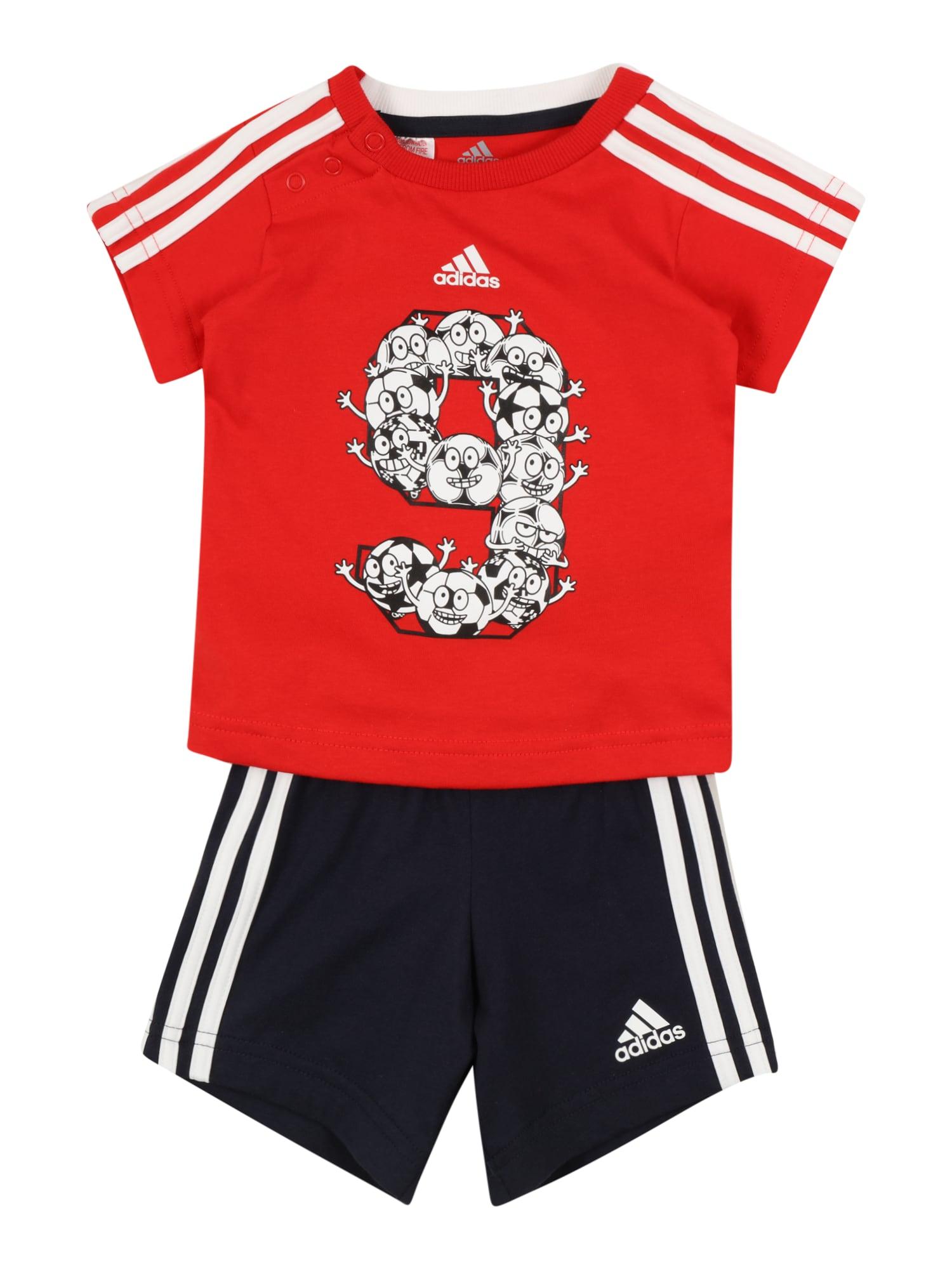 ADIDAS PERFORMANCE Sportinis kostiumas raudona / tamsiai mėlyna / balta