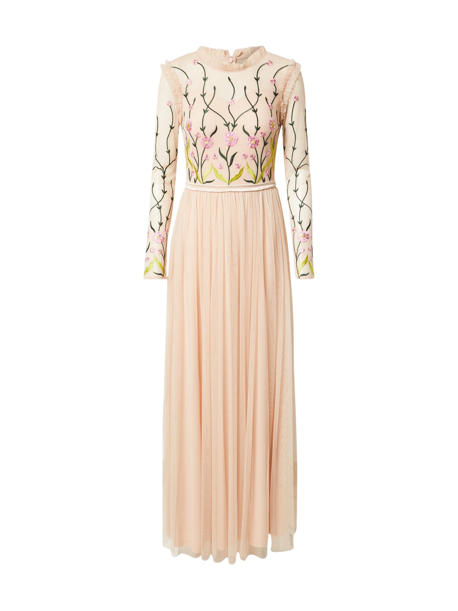 Frock and Frill Vakarinė suknelė abrikosų spalva / tamsiai žalia / šviesiai rožinė / nendrių spalva